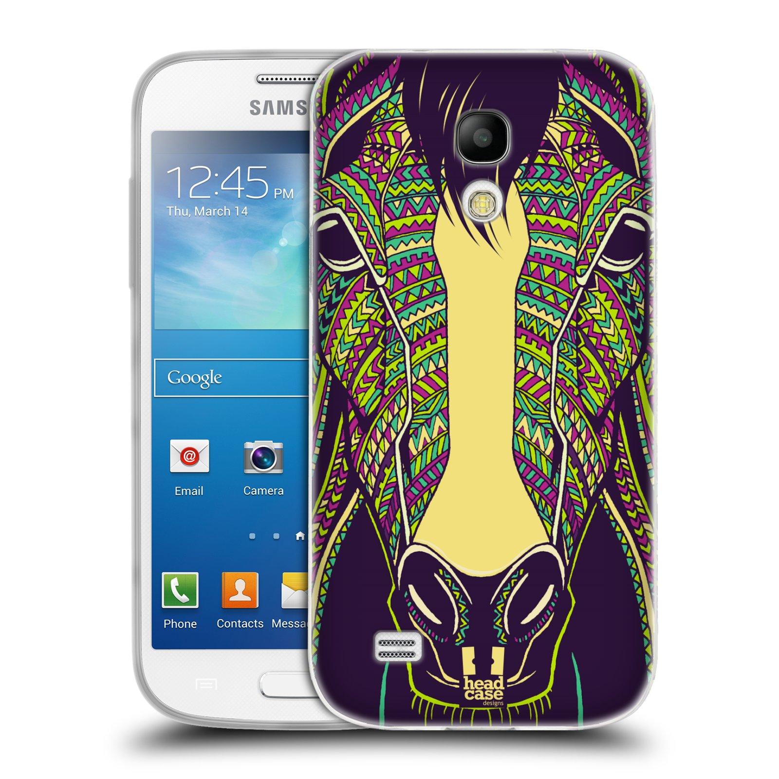 Silikonové pouzdro na mobil Samsung Galaxy S4 Mini HEAD CASE AZTEC KŮŇ