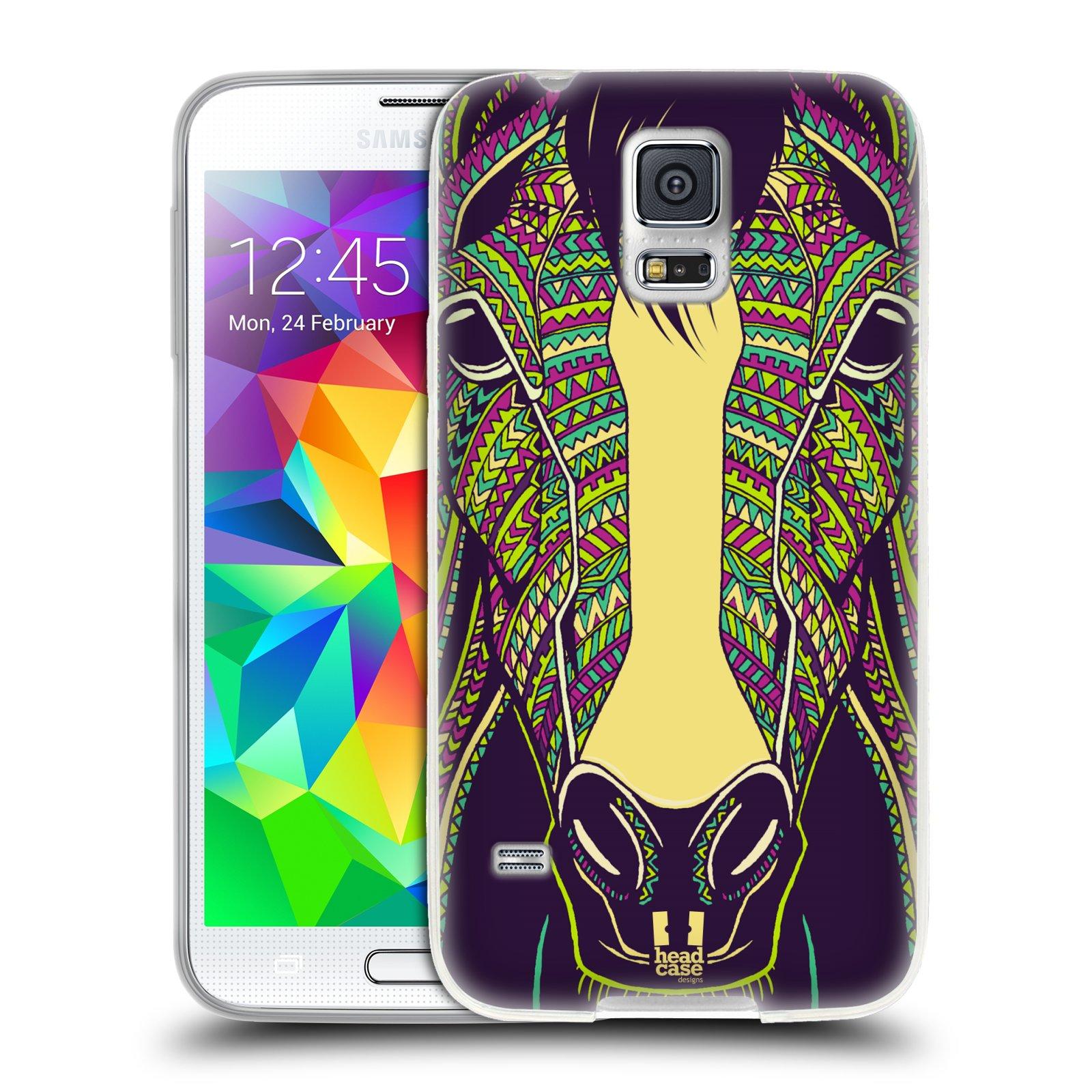 Silikonové pouzdro na mobil Samsung Galaxy S5 HEAD CASE AZTEC KŮŇ