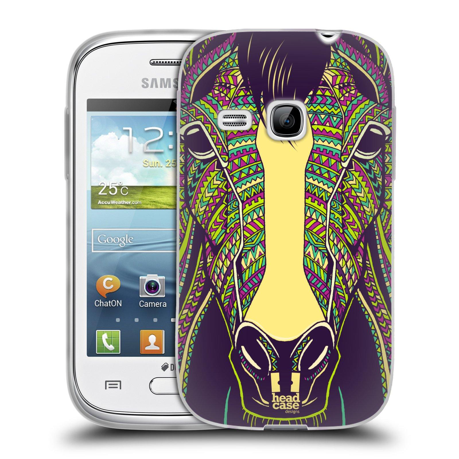 Silikonové pouzdro na mobil Samsung Galaxy Young HEAD CASE AZTEC KŮŇ (Silikonový kryt či obal na mobilní telefon Samsung Galaxy Young GT-S6310)