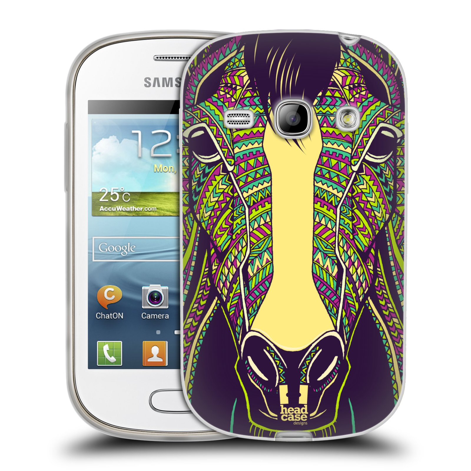 Silikonové pouzdro na mobil Samsung Galaxy Fame HEAD CASE AZTEC KŮŇ (Silikonový kryt či obal na mobilní telefon Samsung Galaxy Fame GT-S6810)