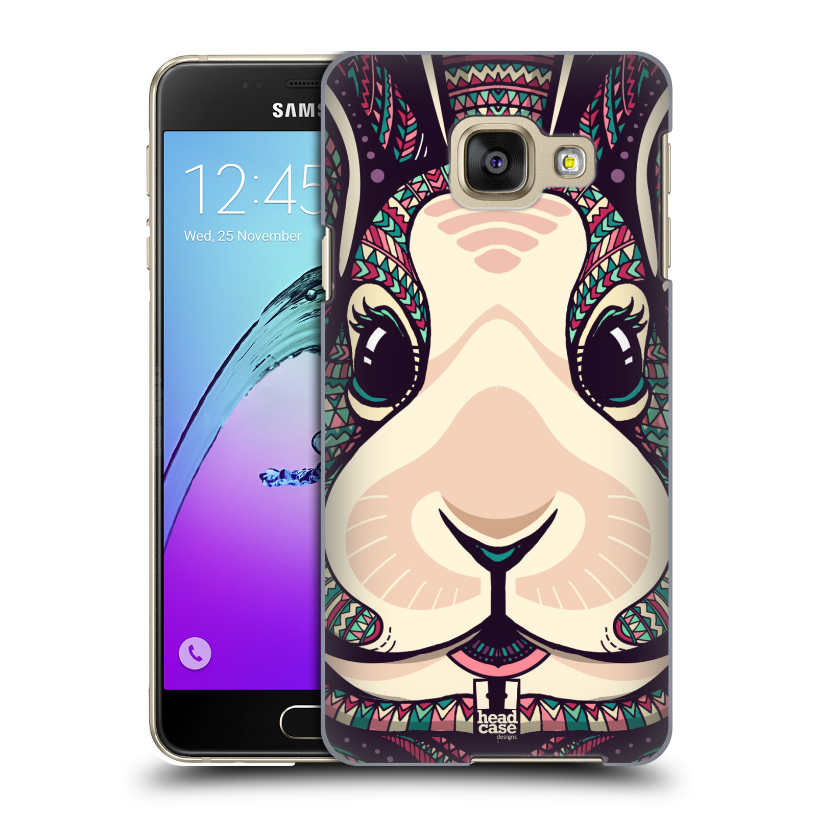 Plastové pouzdro na mobil Samsung Galaxy A3 (2016) HEAD CASE AZTEC ZAJÍČEK