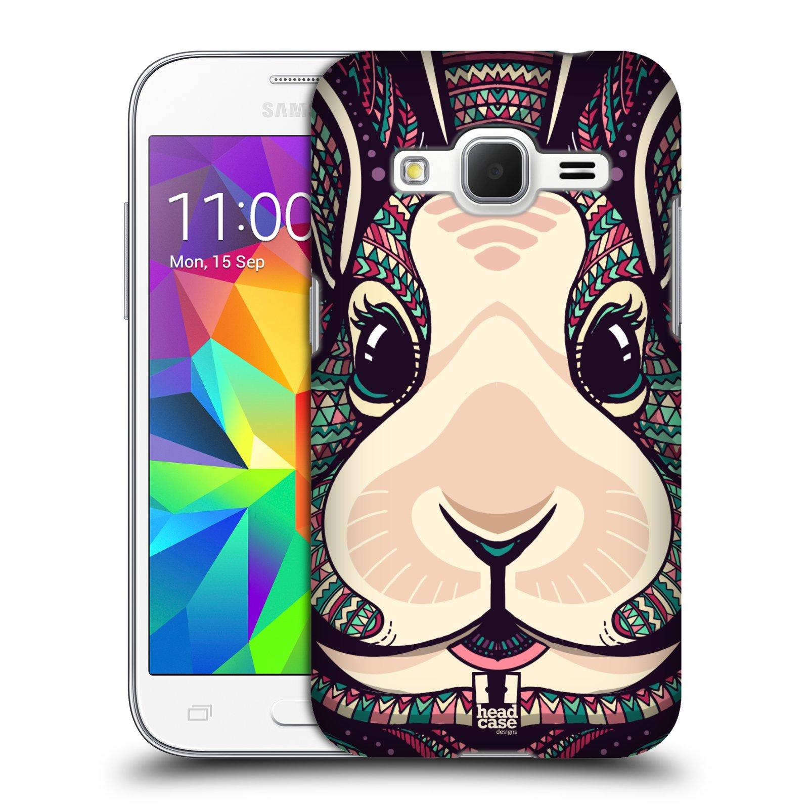 Plastové pouzdro na mobil Samsung Galaxy Core Prime VE HEAD CASE AZTEC ZAJÍČEK (Kryt či obal na mobilní telefon Samsung Galaxy Core Prime LTE VE SM-G361F)