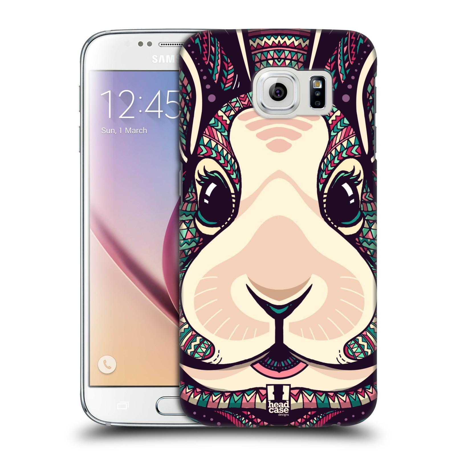 Plastové pouzdro na mobil Samsung Galaxy S6 HEAD CASE AZTEC ZAJÍČEK