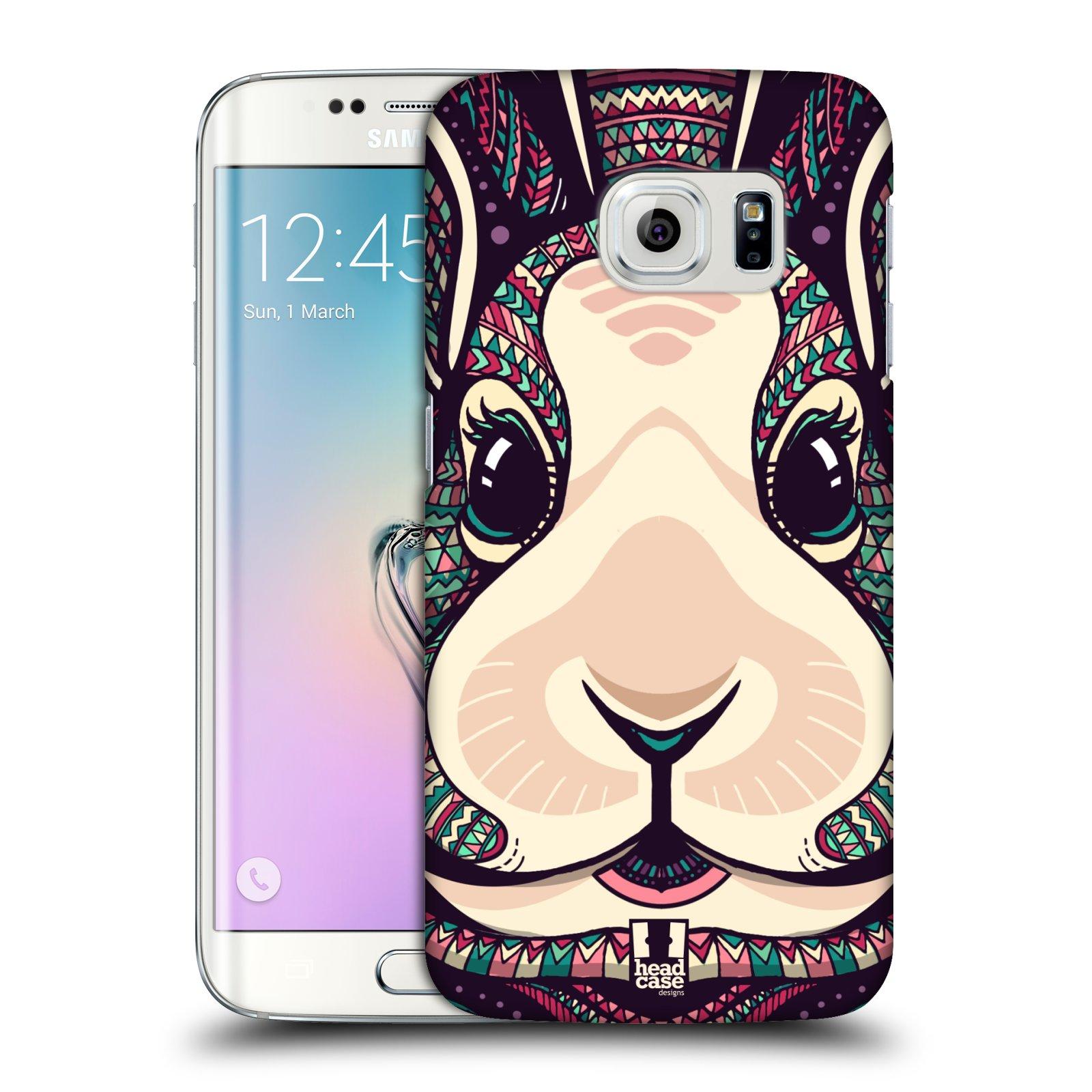 Plastové pouzdro na mobil Samsung Galaxy S6 Edge HEAD CASE AZTEC ZAJÍČEK (Kryt či obal na mobilní telefon Samsung Galaxy S6 Edge SM-G925F)