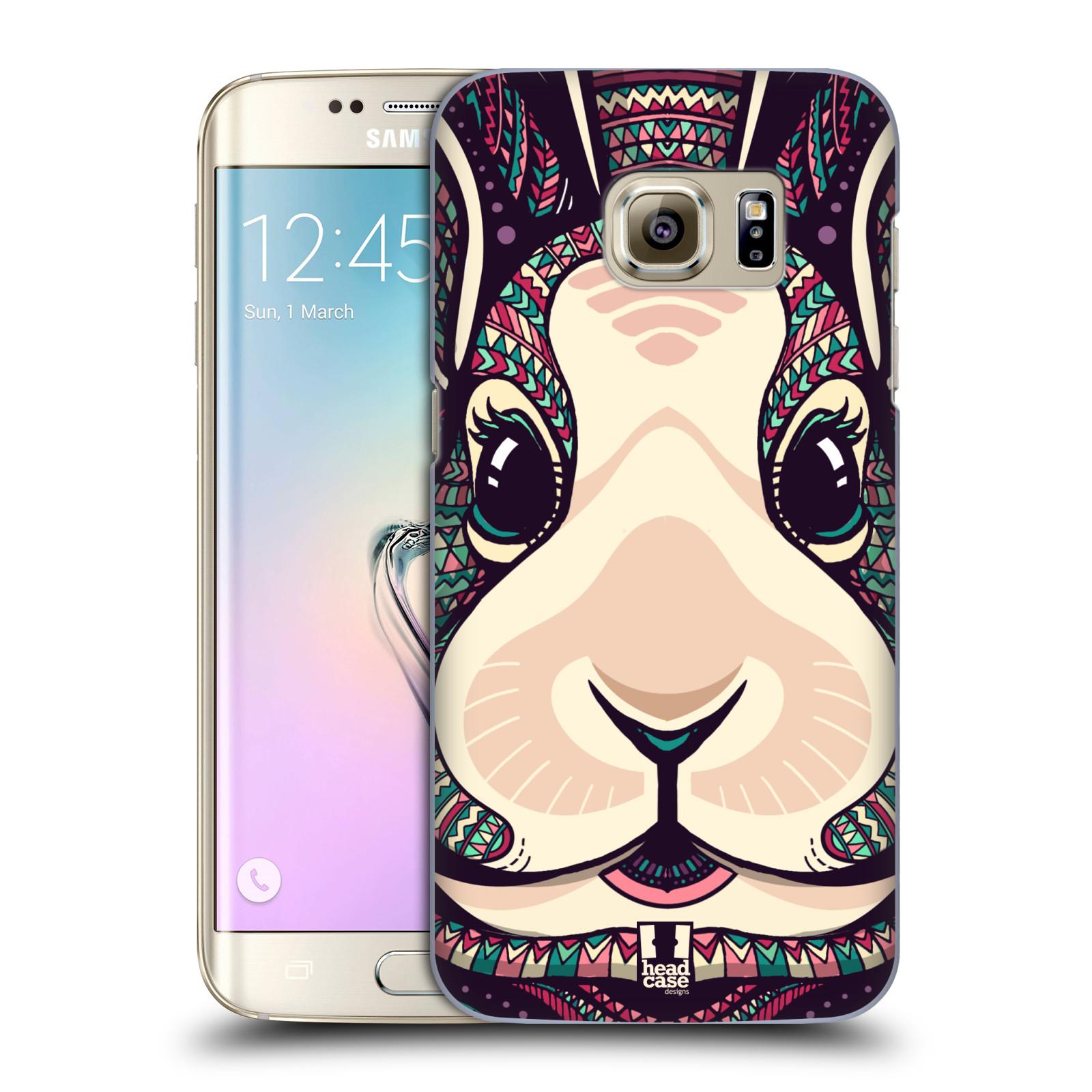 Plastové pouzdro na mobil Samsung Galaxy S7 Edge HEAD CASE AZTEC ZAJÍČEK