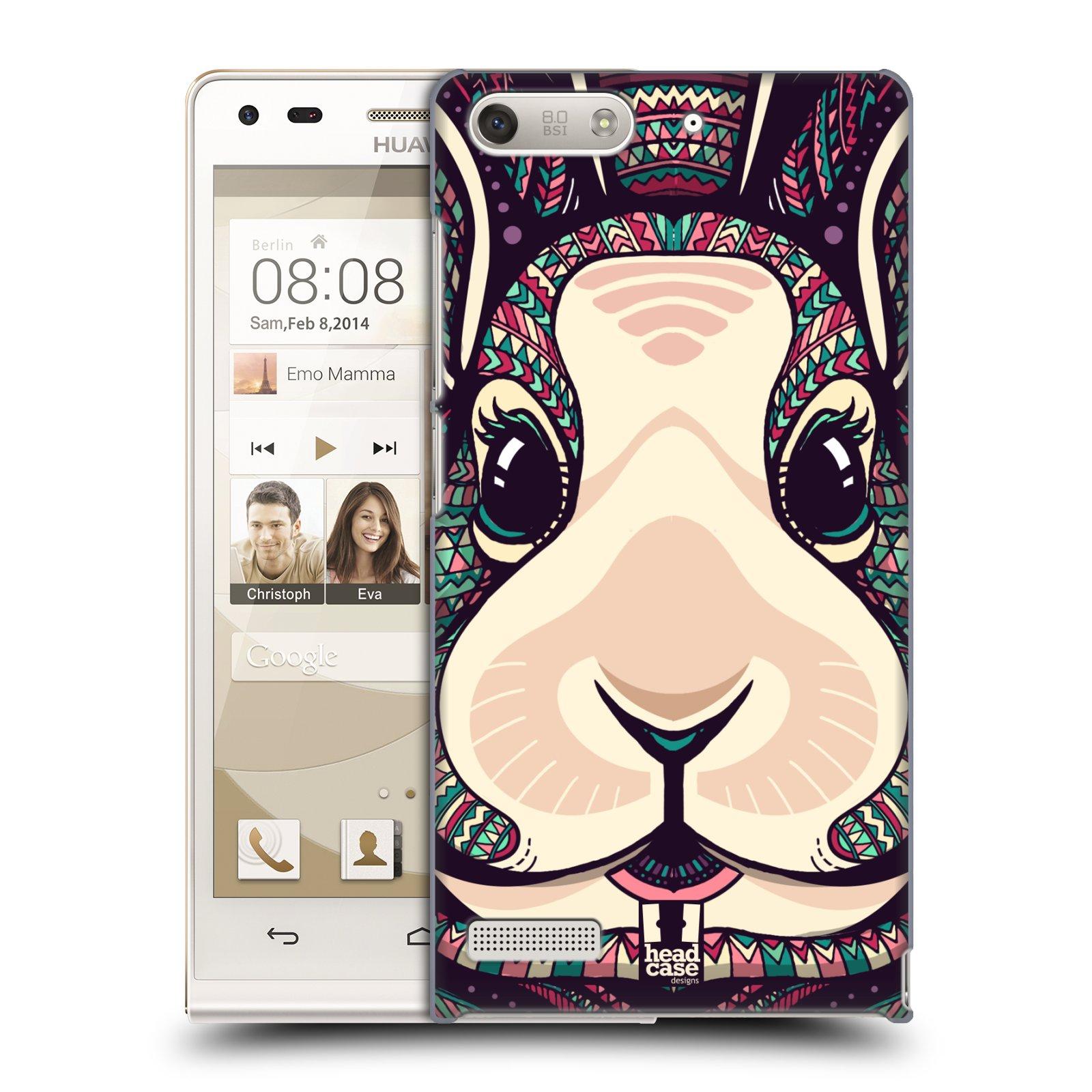 Plastové pouzdro na mobil Huawei Ascend G6 HEAD CASE AZTEC ZAJÍČEK (Kryt či obal na mobilní telefon Huawei Ascend G6 bez LTE)
