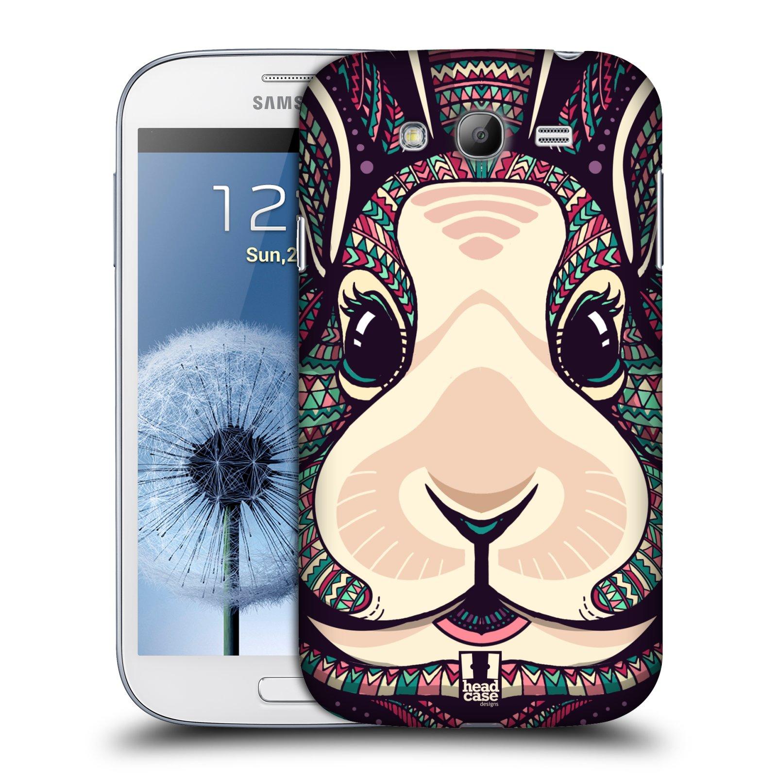 Plastové pouzdro na mobil Samsung Galaxy Grand Neo Plus HEAD CASE AZTEC ZAJÍČEK (Kryt či obal na mobilní telefon Samsung Galaxy Grand Neo Plus GT-i9060i)