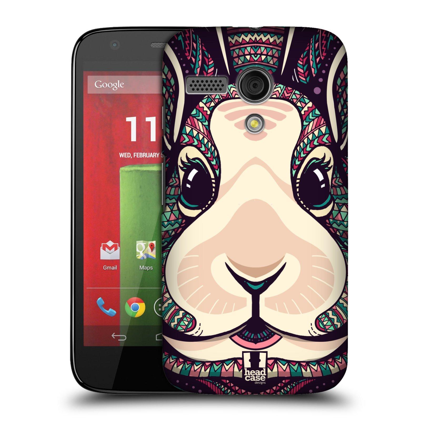 Plastové pouzdro na mobil Motorola Moto G HEAD CASE AZTEC ZAJÍČEK (Kryt či obal na mobilní telefon Motorola Moto G)