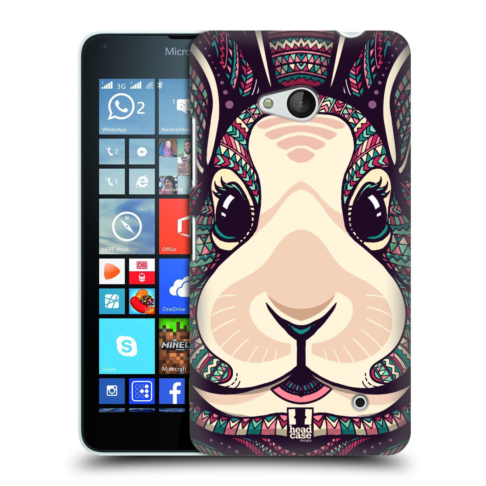 Plastové pouzdro na mobil Microsoft Lumia 640 HEAD CASE AZTEC ZAJÍČEK