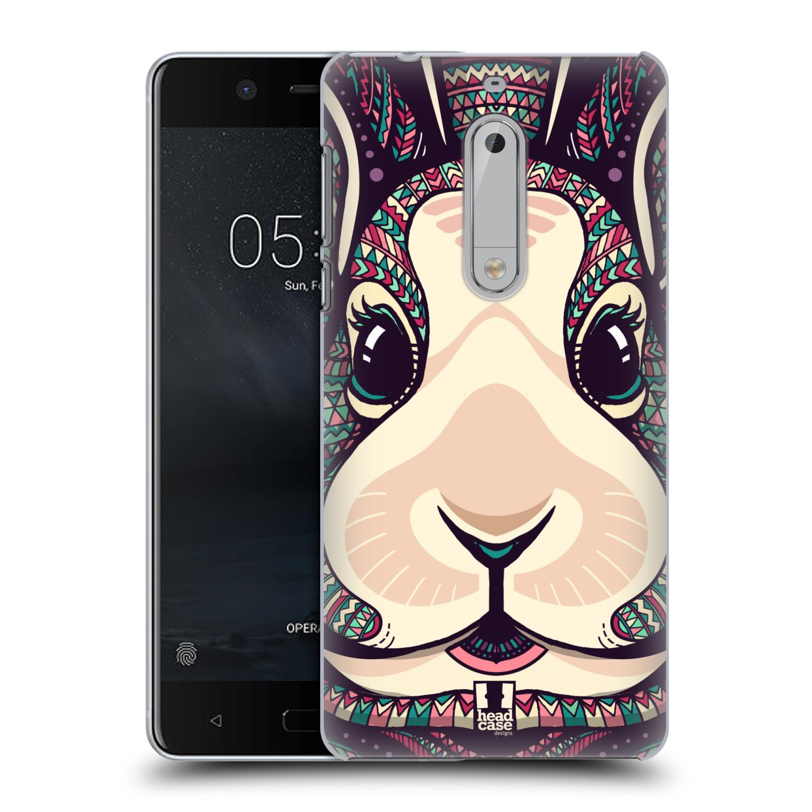 Plastové pouzdro na mobil Nokia 5 Head Case - AZTEC ZAJÍČEK