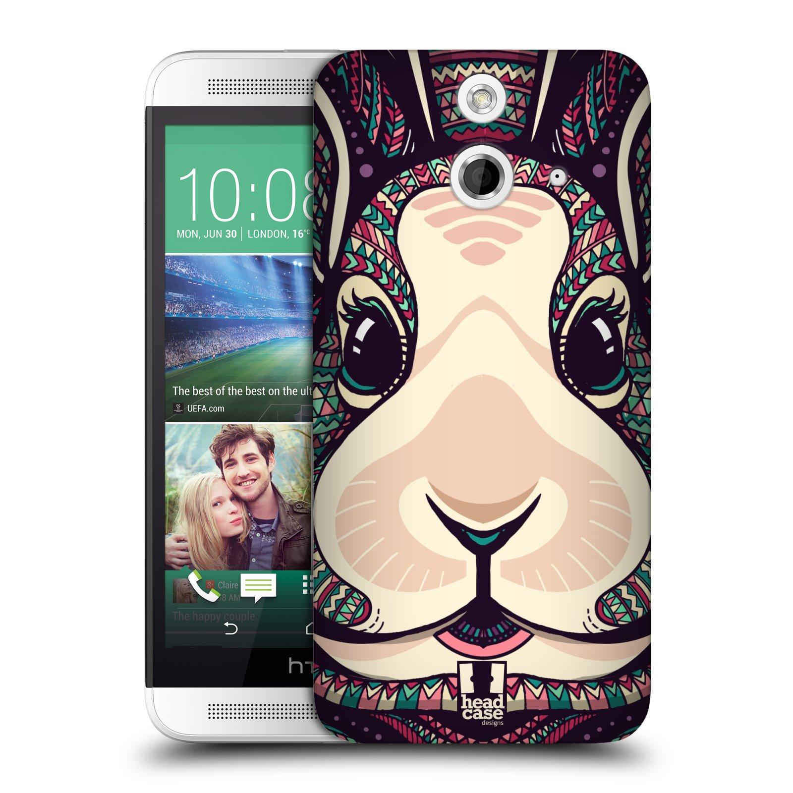 Plastové pouzdro na mobil HTC ONE E8 HEAD CASE AZTEC ZAJÍČEK (Kryt či obal na mobilní telefon HTC ONE E8)