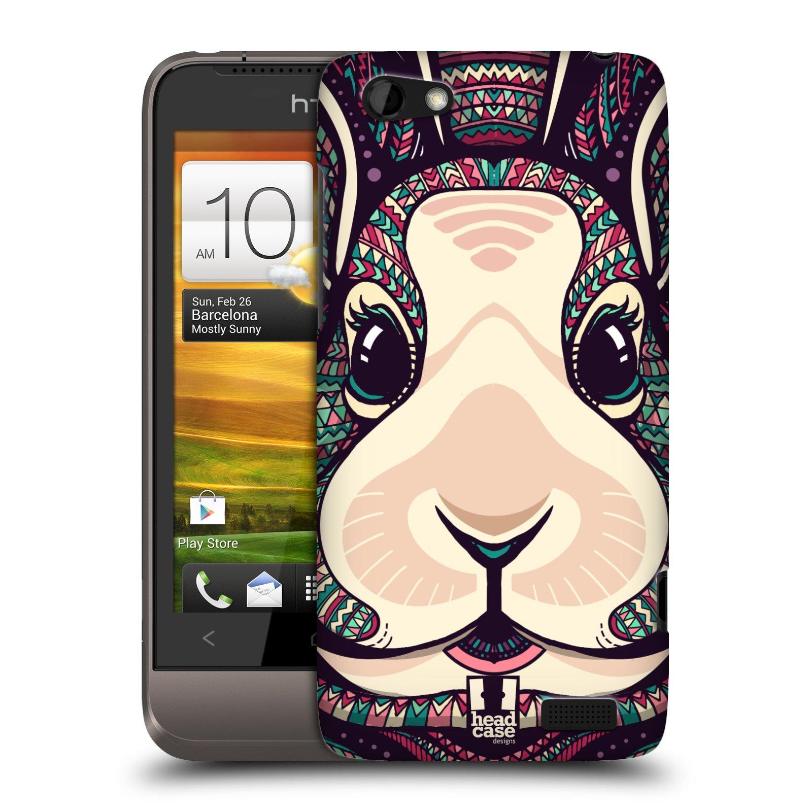 Plastové pouzdro na mobil HTC ONE V HEAD CASE AZTEC ZAJÍČEK (Kryt či obal na mobilní telefon HTC ONE V)