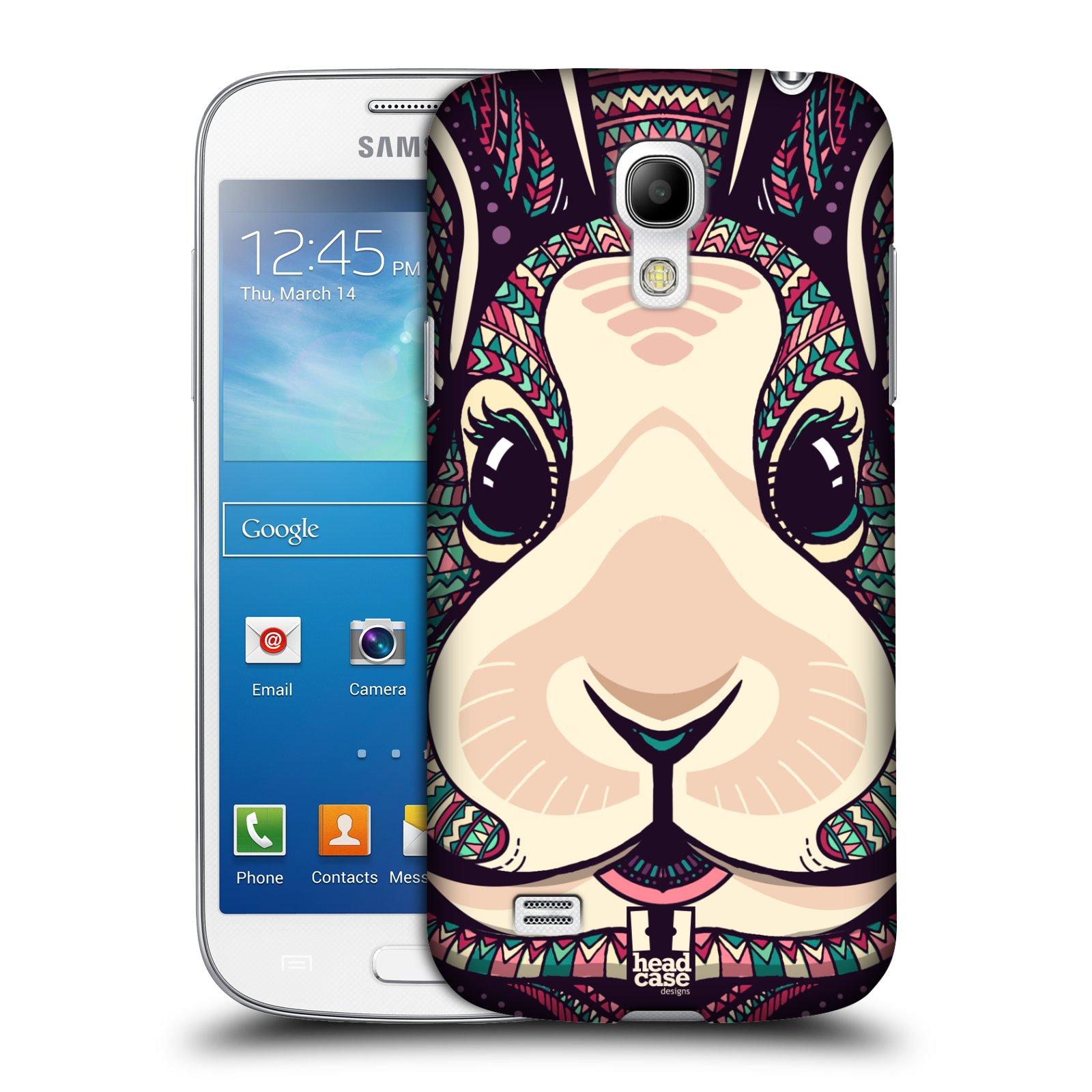Plastové pouzdro na mobil Samsung Galaxy S4 Mini HEAD CASE AZTEC ZAJÍČEK
