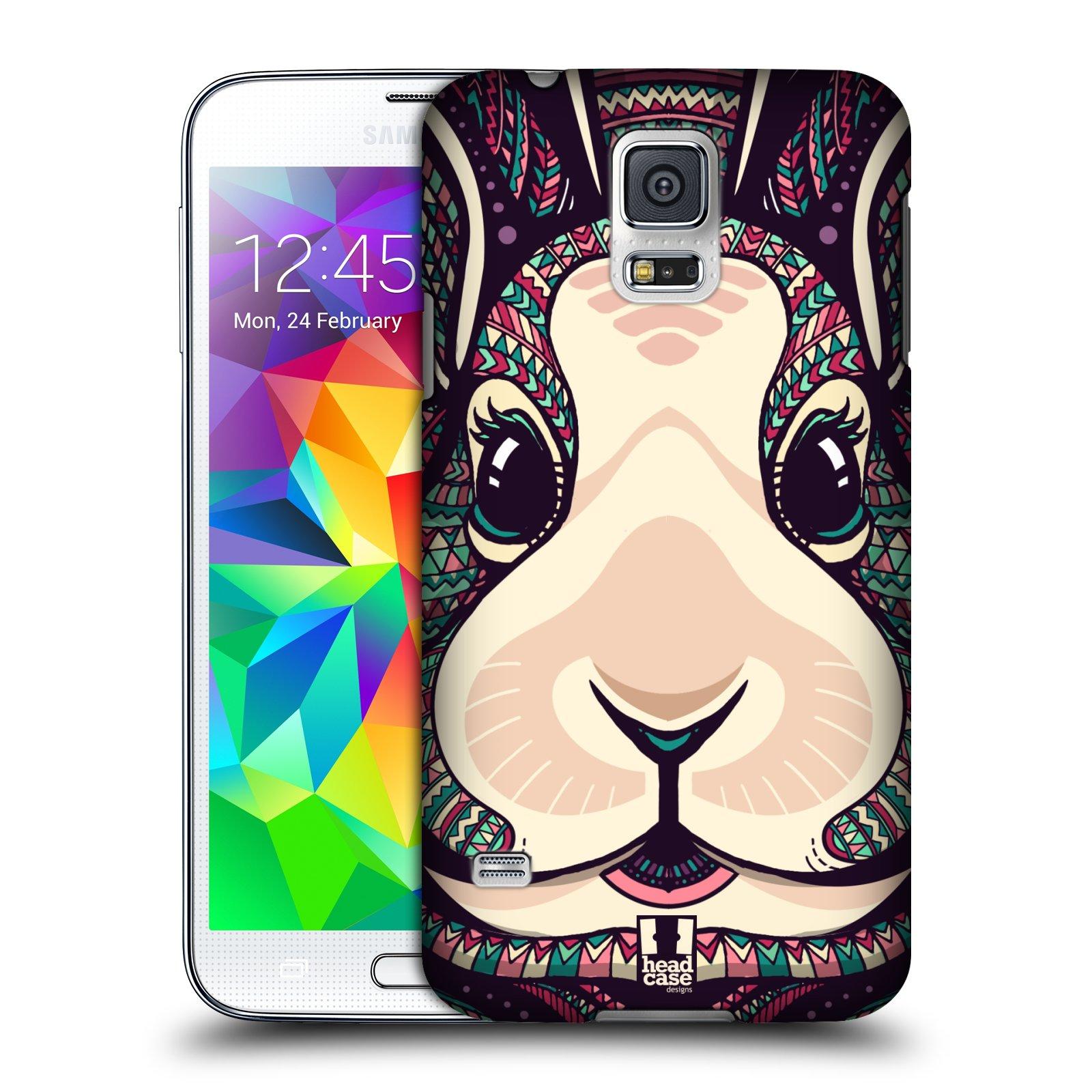 Plastové pouzdro na mobil Samsung Galaxy S5 HEAD CASE AZTEC ZAJÍČEK