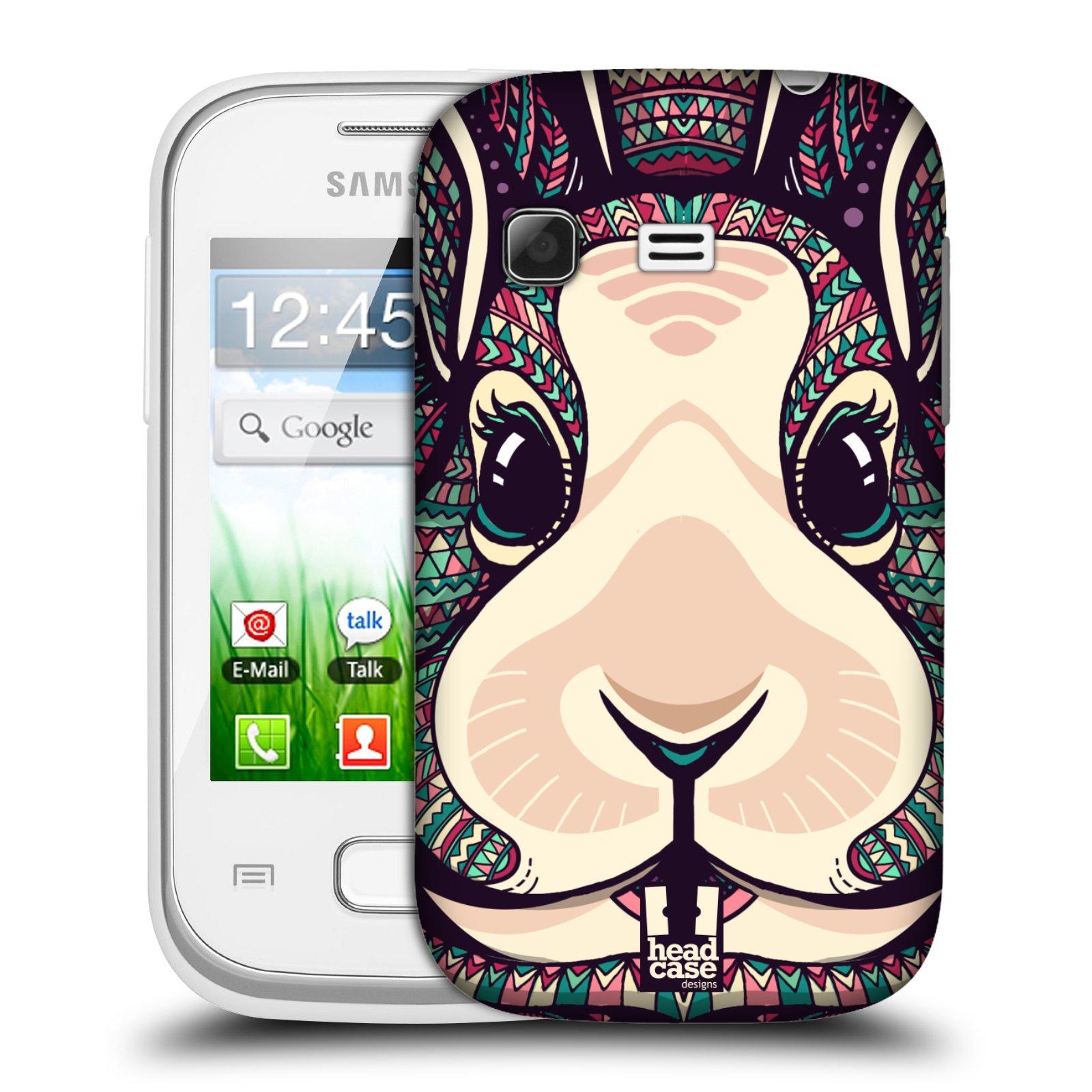 Plastové pouzdro na mobil Samsung Galaxy Pocket HEAD CASE AZTEC ZAJÍČEK (Kryt či obal na mobilní telefon Samsung Galaxy Pocket GT-S5300)