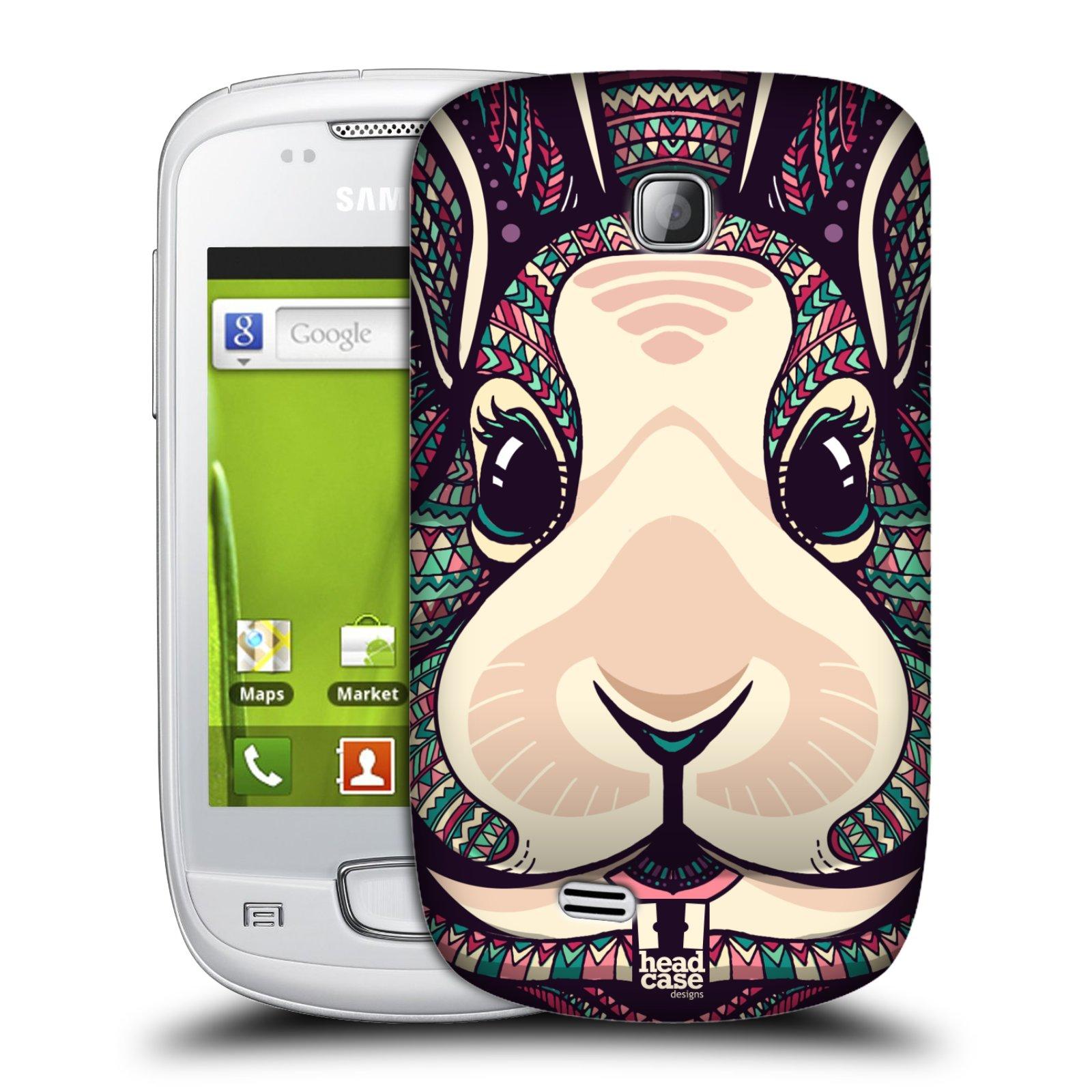 Plastové pouzdro na mobil Samsung Galaxy Mini HEAD CASE AZTEC ZAJÍČEK (Kryt či obal na mobilní telefon Samsung Galaxy Mini GT-S5570 / GT-S5570i)