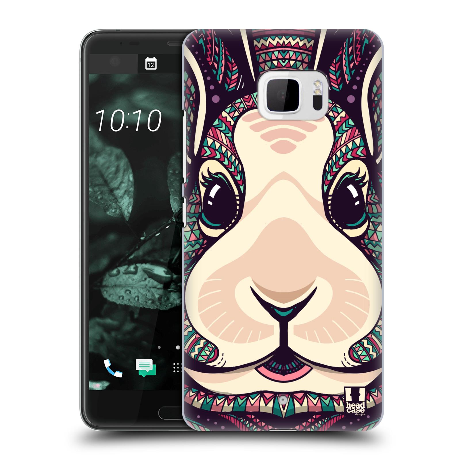 Plastové pouzdro na mobil HTC U Ultra Head Case - AZTEC ZAJÍČEK (Plastový kryt či obal na mobilní telefon HTC U Ultra (99HALT015-00))
