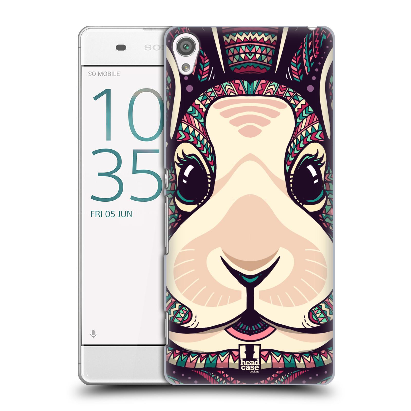 Plastové pouzdro na mobil Sony Xperia XA HEAD CASE AZTEC ZAJÍČEK