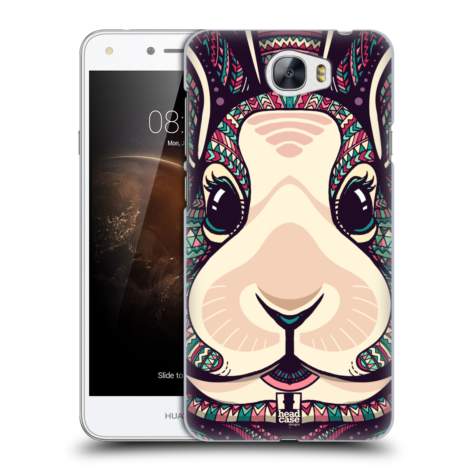Plastové pouzdro na mobil Huawei Y5 II HEAD CASE AZTEC ZAJÍČEK