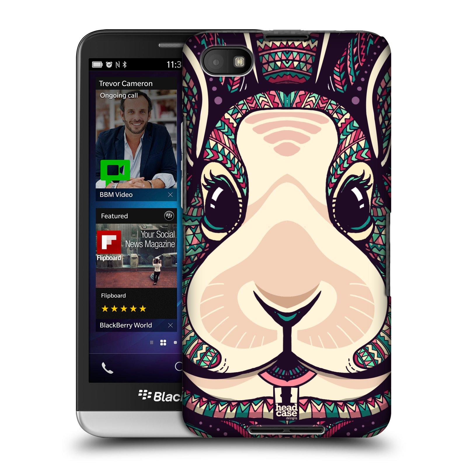 Plastové pouzdro na mobil Blackberry Z30 HEAD CASE AZTEC ZAJÍČEK (Kryt či obal na mobilní telefon Blackberry Z30)