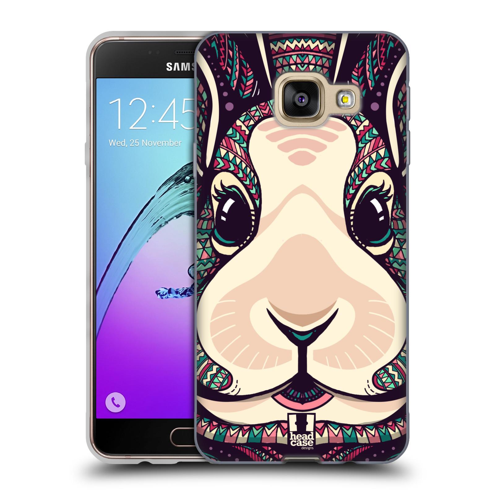 Silikonové pouzdro na mobil Samsung Galaxy A3 (2016) HEAD CASE AZTEC ZAJÍČEK