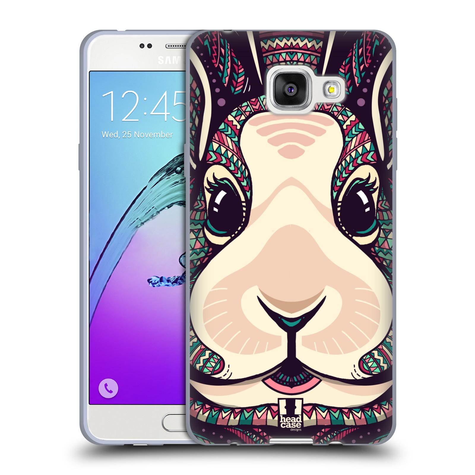 Silikonové pouzdro na mobil Samsung Galaxy A5 (2016) HEAD CASE AZTEC ZAJÍČEK