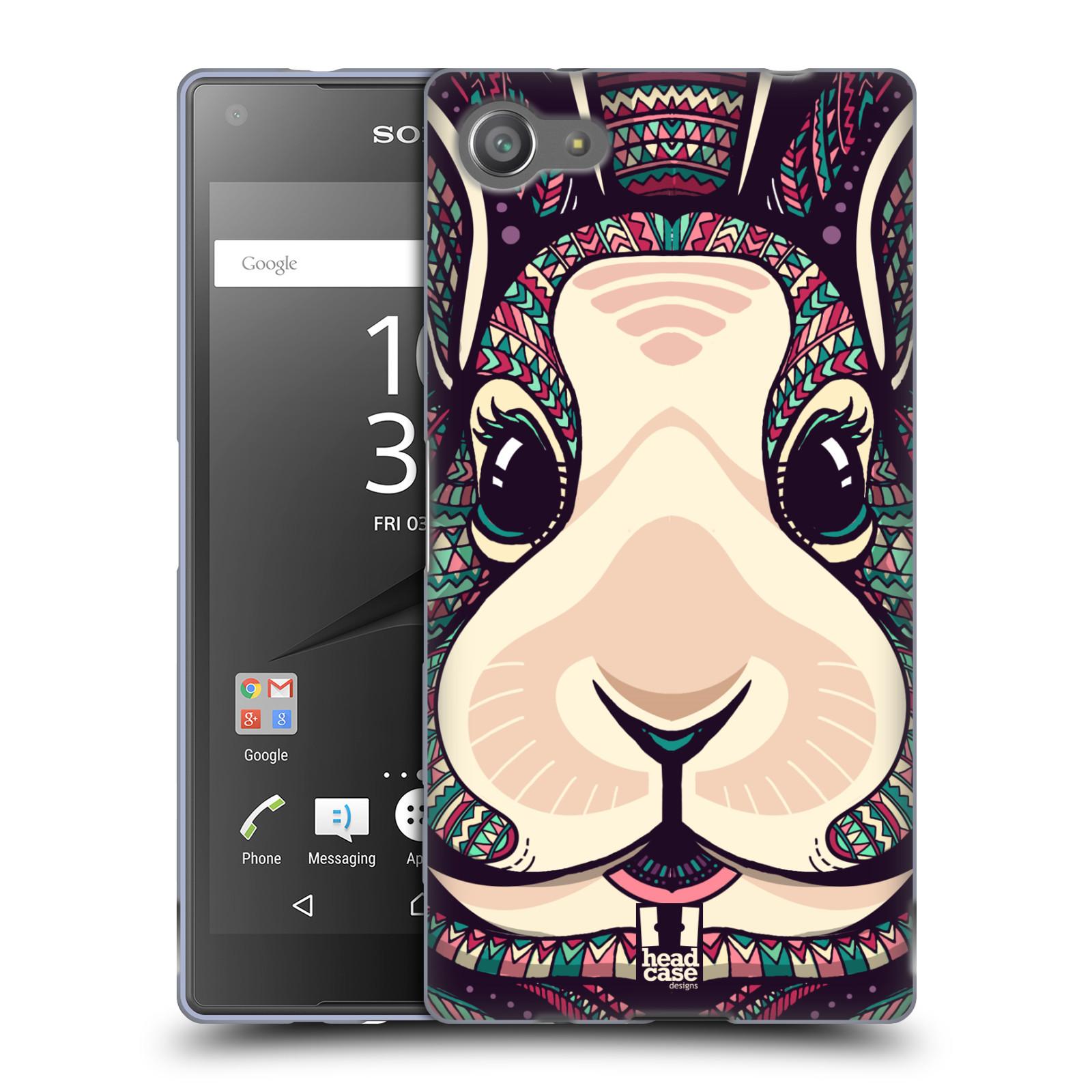 Silikonové pouzdro na mobil Sony Xperia Z5 Compact HEAD CASE AZTEC ZAJÍČEK