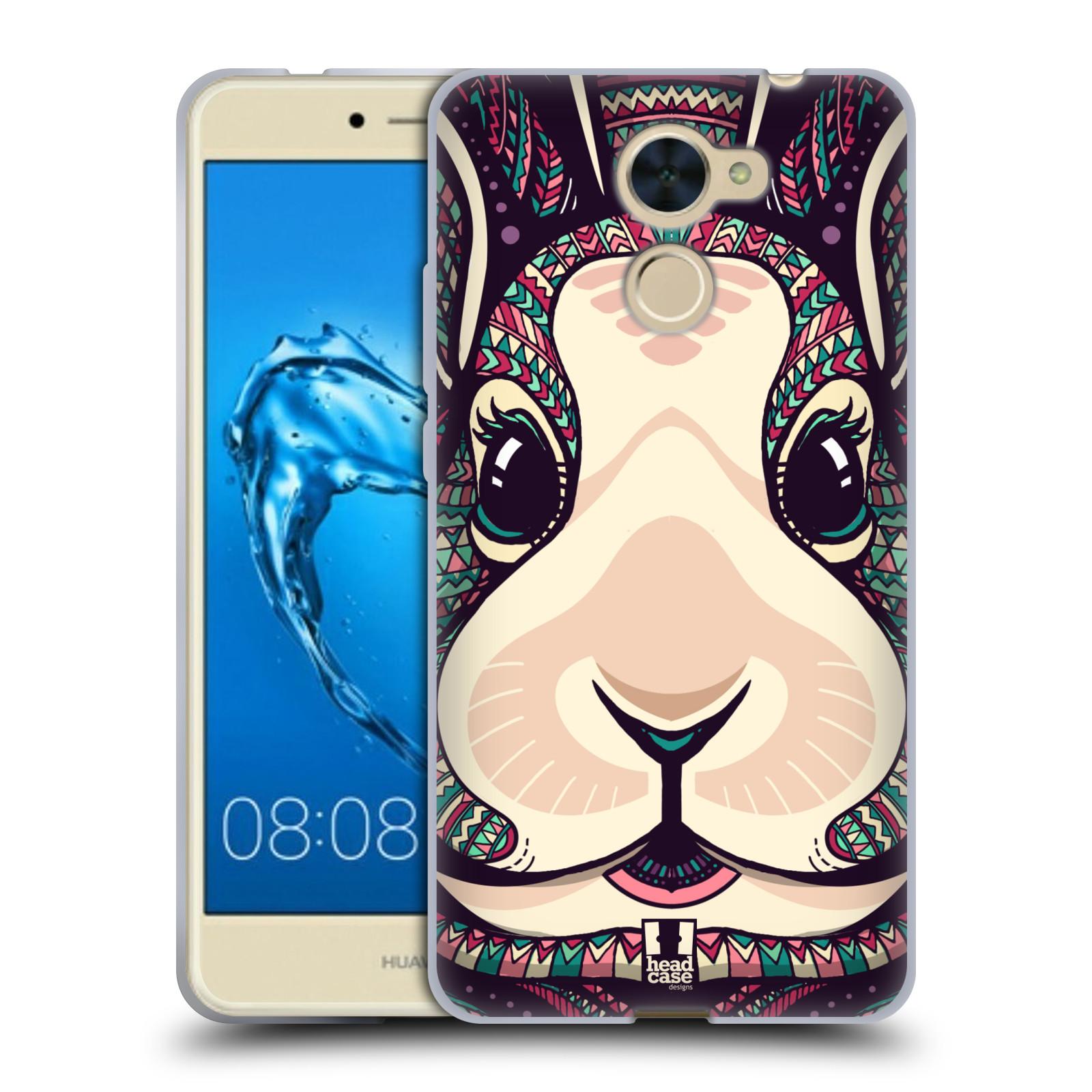 Silikonové pouzdro na mobil Huawei Y7 - Head Case - AZTEC ZAJÍČEK