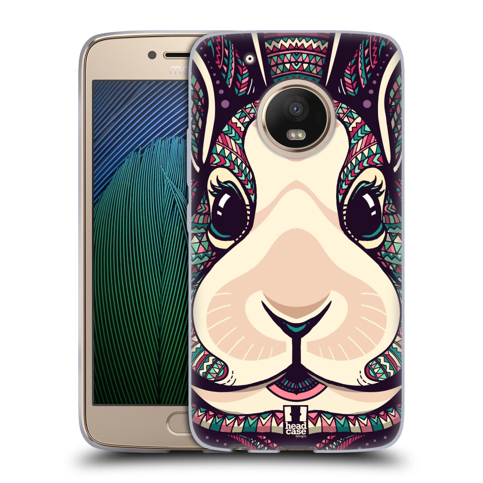 Silikonové pouzdro na mobil Lenovo Moto G5 Plus - Head Case AZTEC ZAJÍČEK
