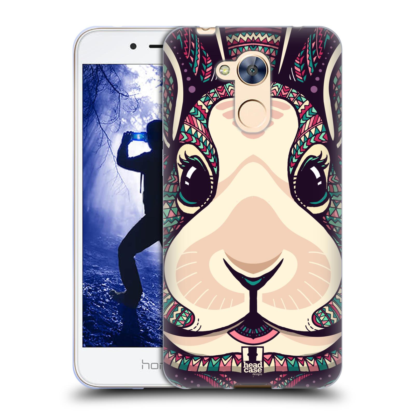 Silikonové pouzdro na mobil Honor 6A - Head Case - AZTEC ZAJÍČEK