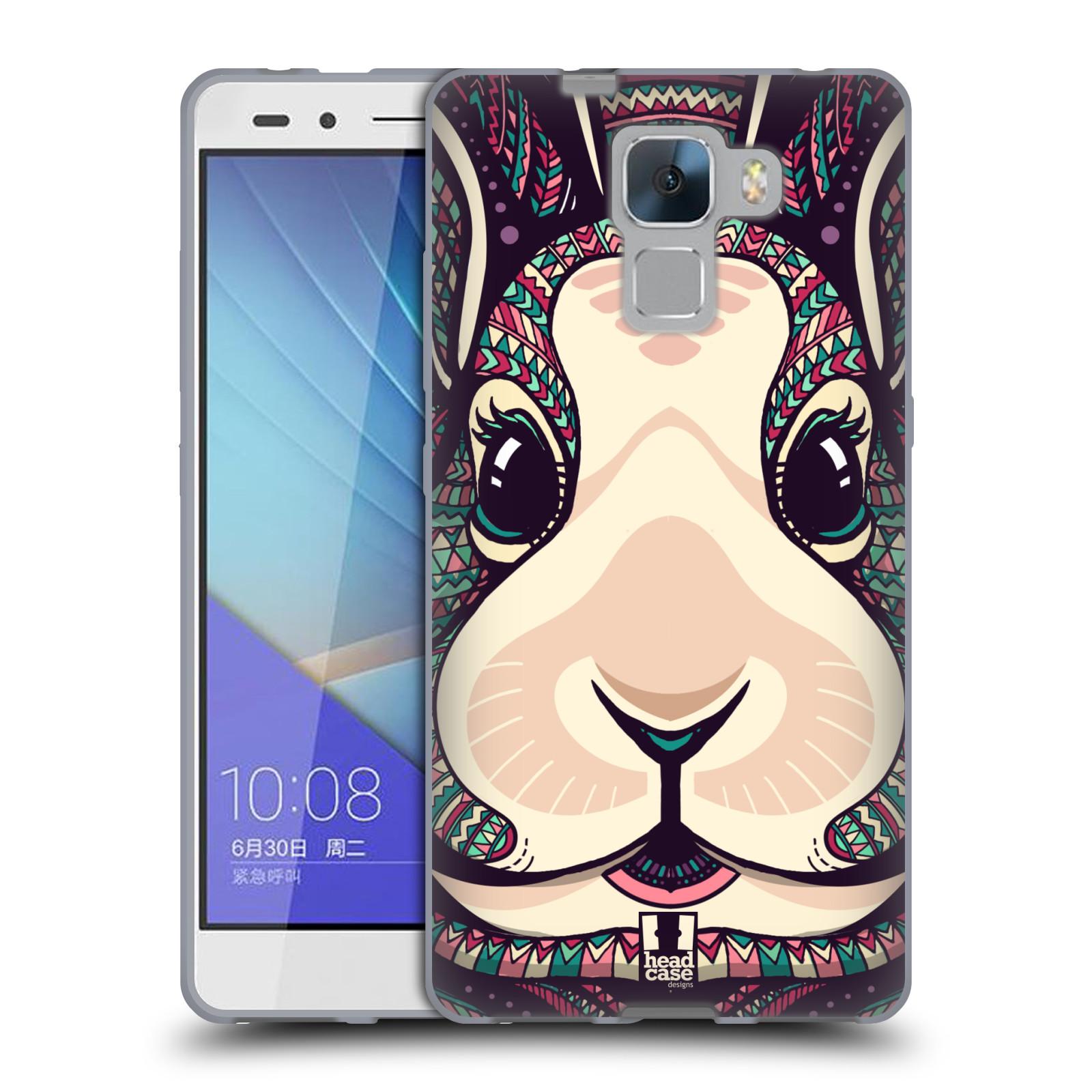 Silikonové pouzdro na mobil Honor 7 HEAD CASE AZTEC ZAJÍČEK