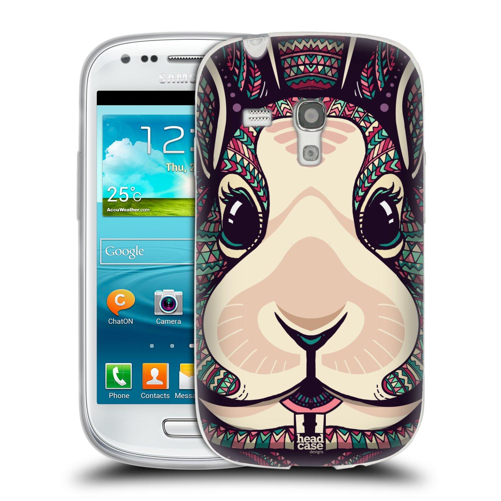 Silikonové pouzdro na mobil Samsung Galaxy S III Mini HEAD CASE AZTEC ZAJÍČEK (Silikonový kryt či obal na mobilní telefon Samsung Galaxy S III Mini GT-i8190)