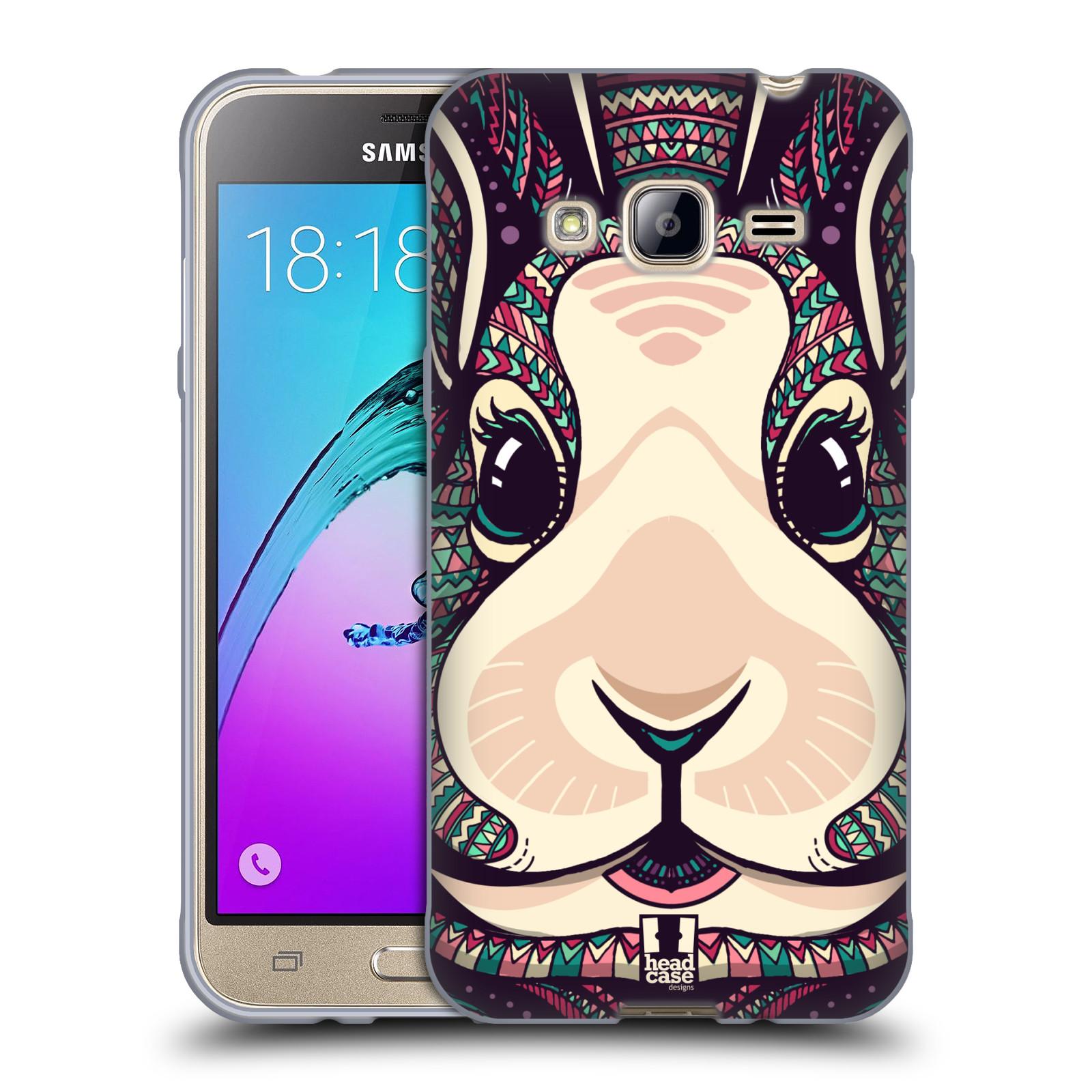 Silikonové pouzdro na mobil Samsung Galaxy J3 (2016) HEAD CASE AZTEC ZAJÍČEK