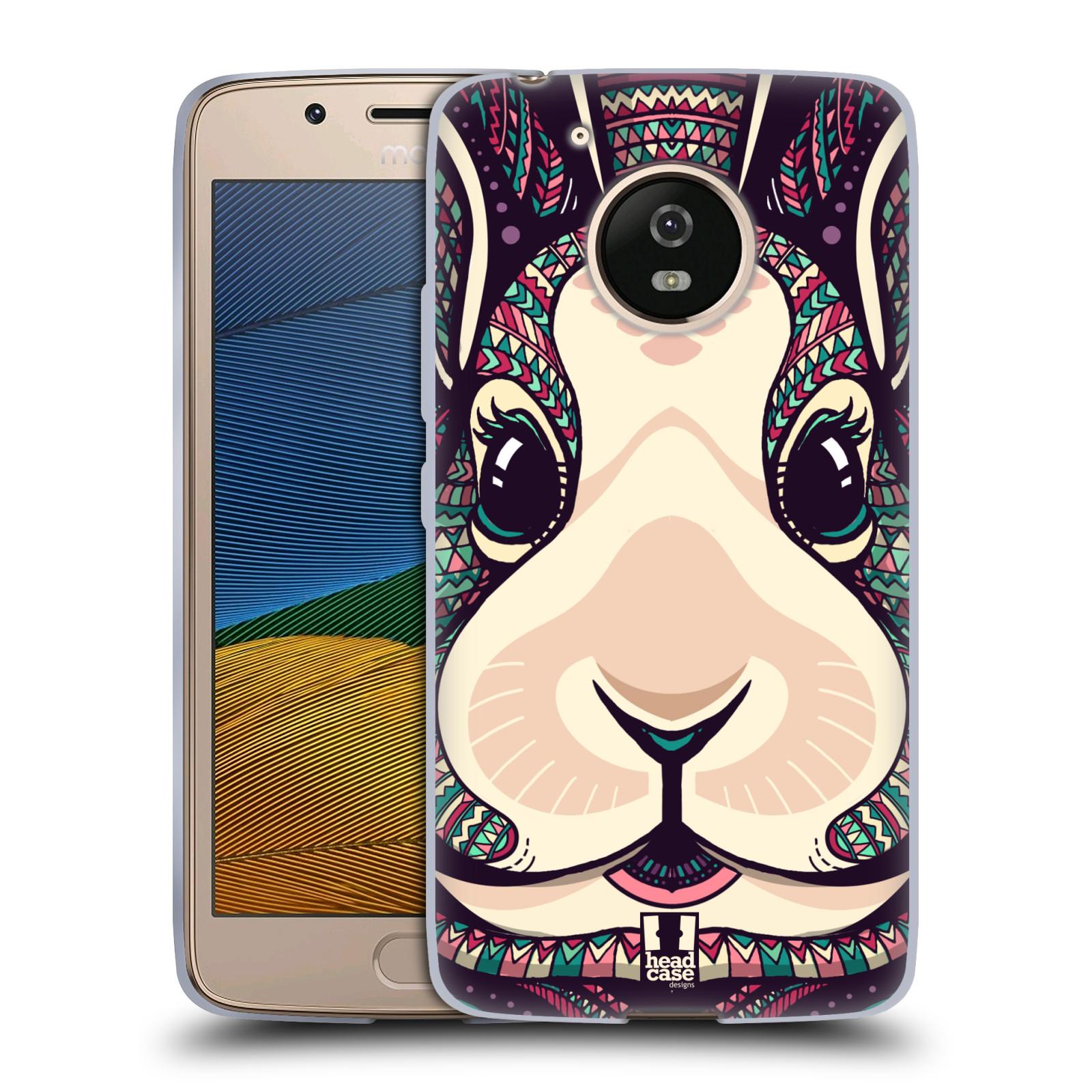 Silikonové pouzdro na mobil Lenovo Moto G5 - Head Case AZTEC ZAJÍČEK