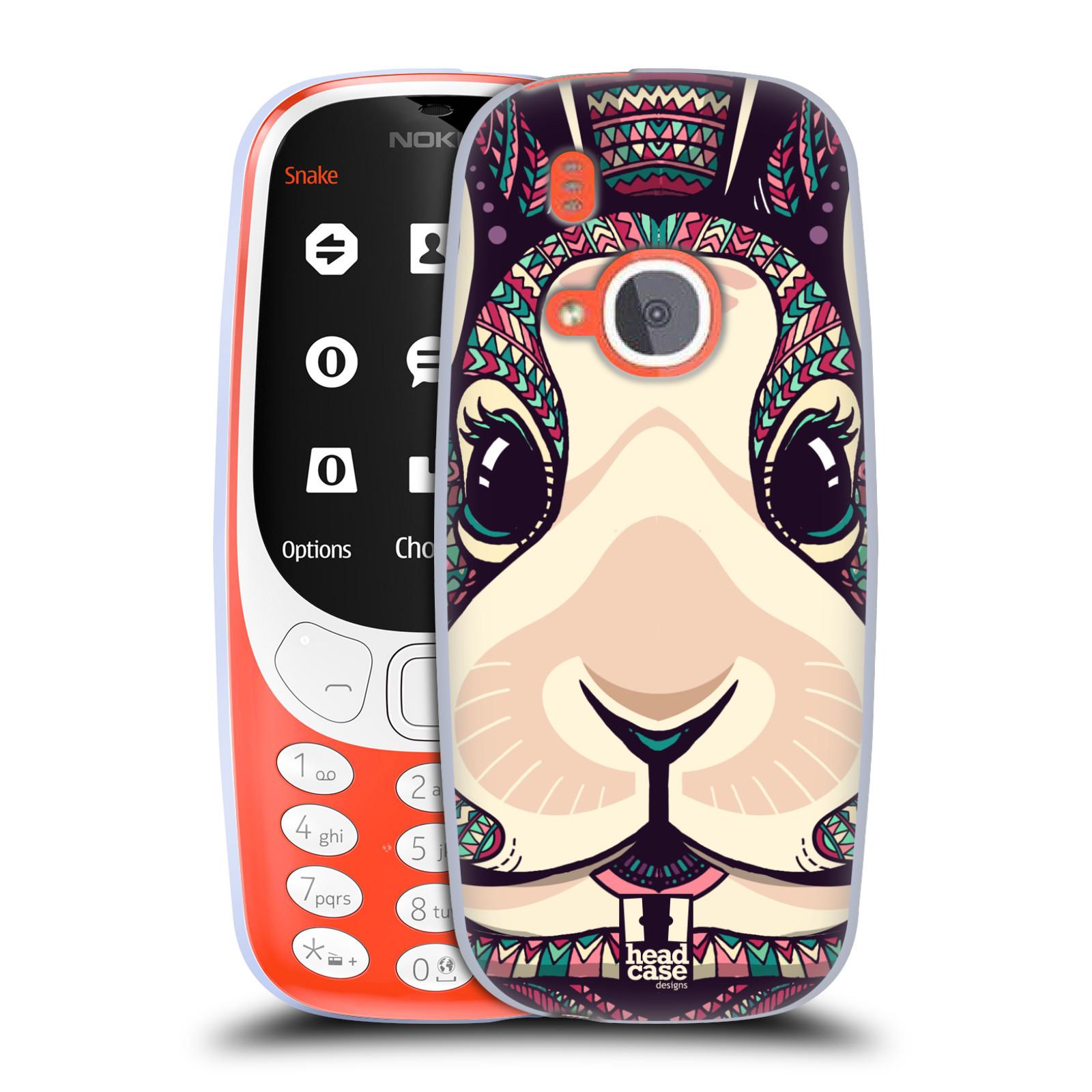 Silikonové pouzdro na mobil Nokia 3310 - Head Case - AZTEC ZAJÍČEK