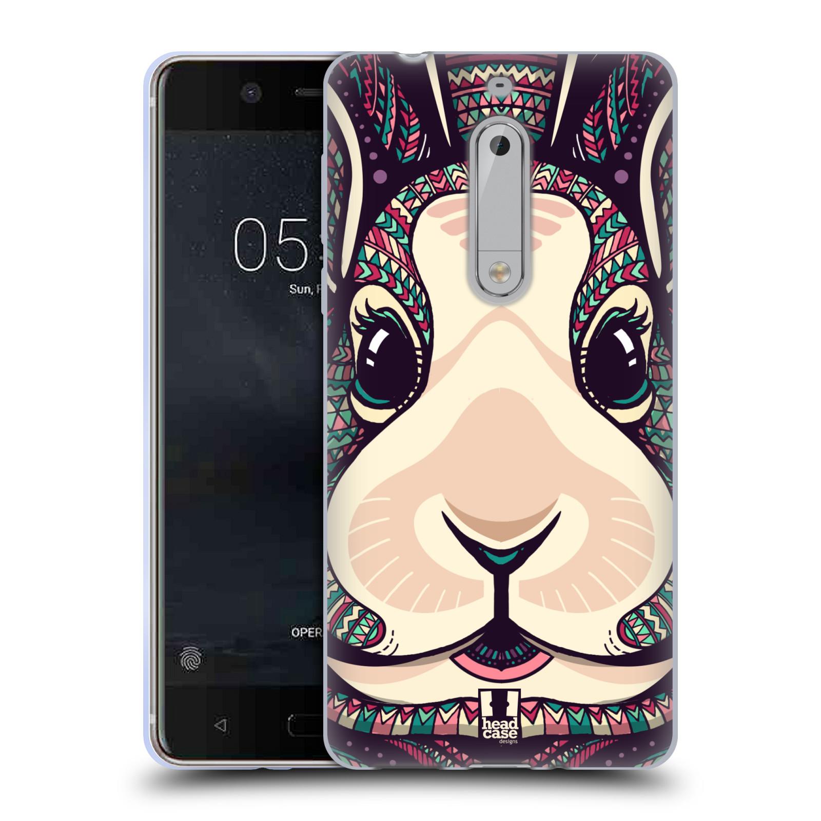Silikonové pouzdro na mobil Nokia 5 Head Case - AZTEC ZAJÍČEK