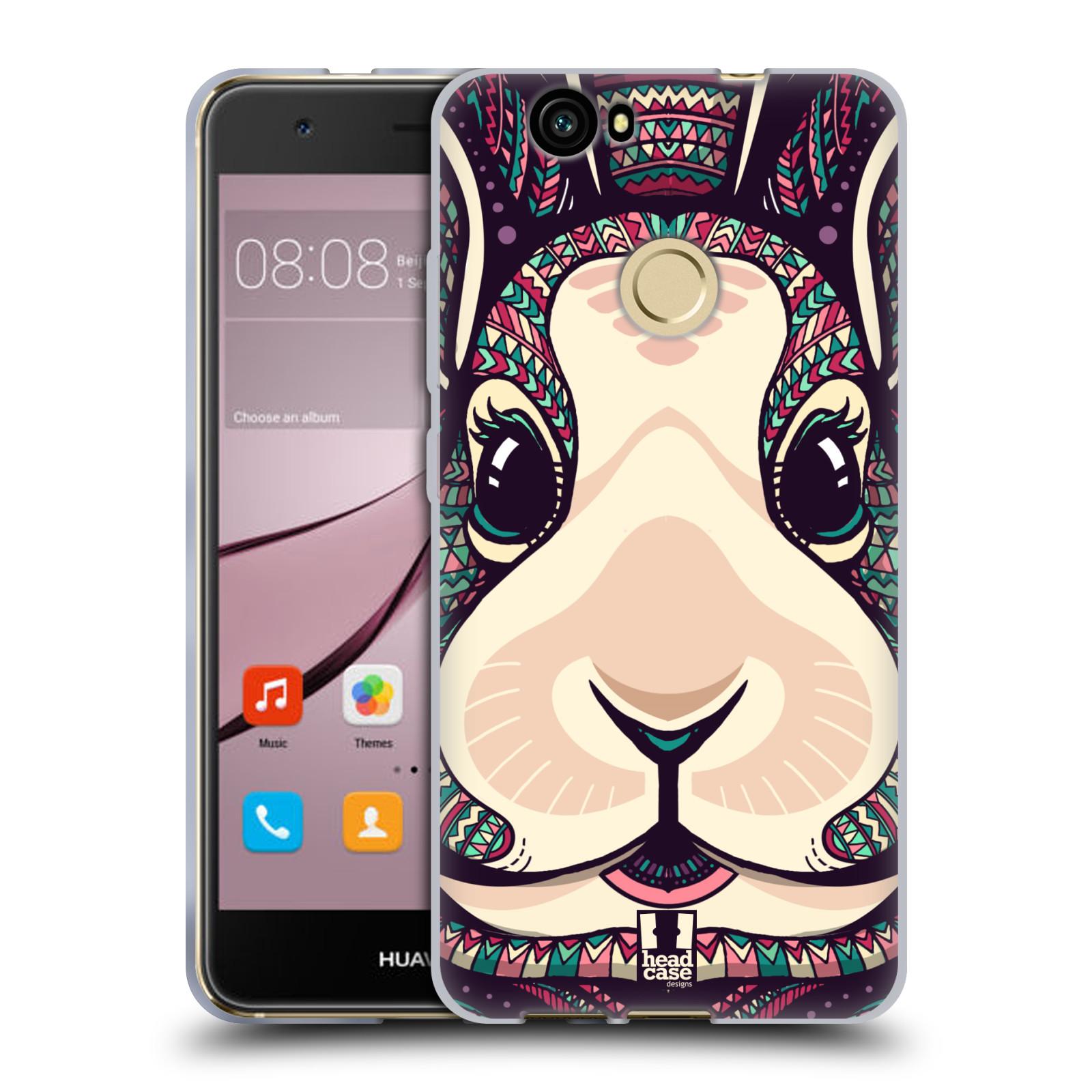 Silikonové pouzdro na mobil Huawei Nova - Head Case - AZTEC ZAJÍČEK