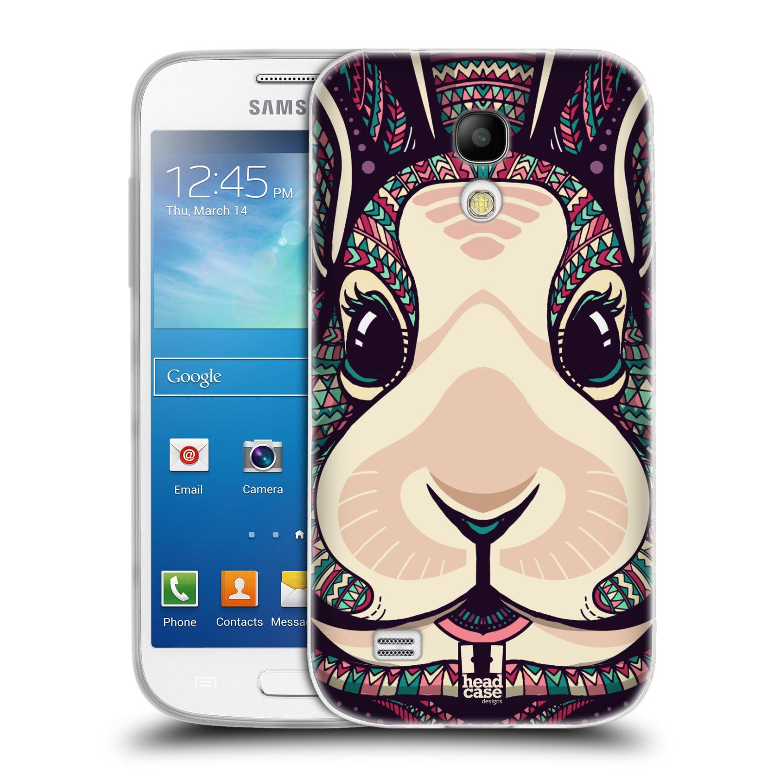 Silikonové pouzdro na mobil Samsung Galaxy S4 Mini HEAD CASE AZTEC ZAJÍČEK