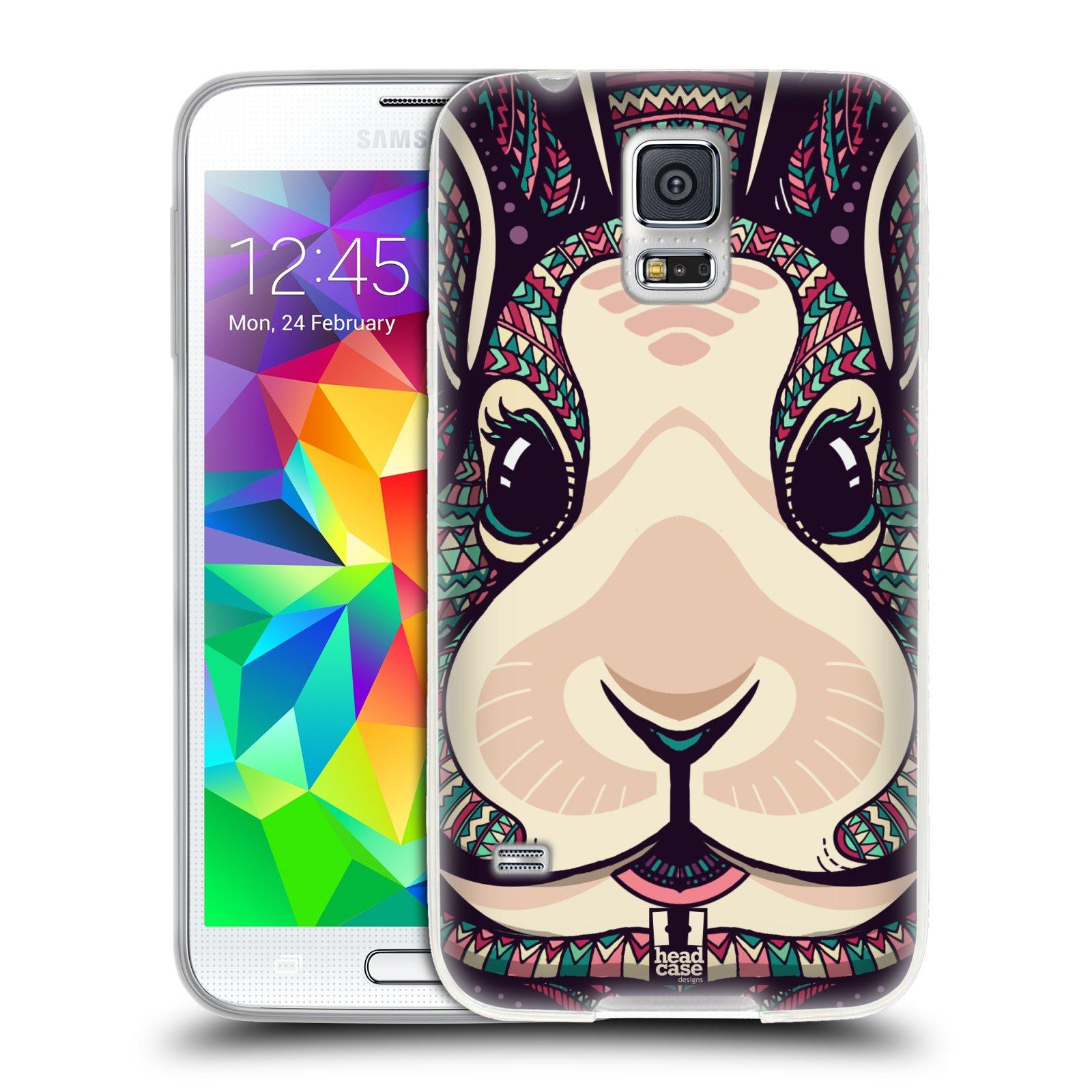 Silikonové pouzdro na mobil Samsung Galaxy S5 HEAD CASE AZTEC ZAJÍČEK