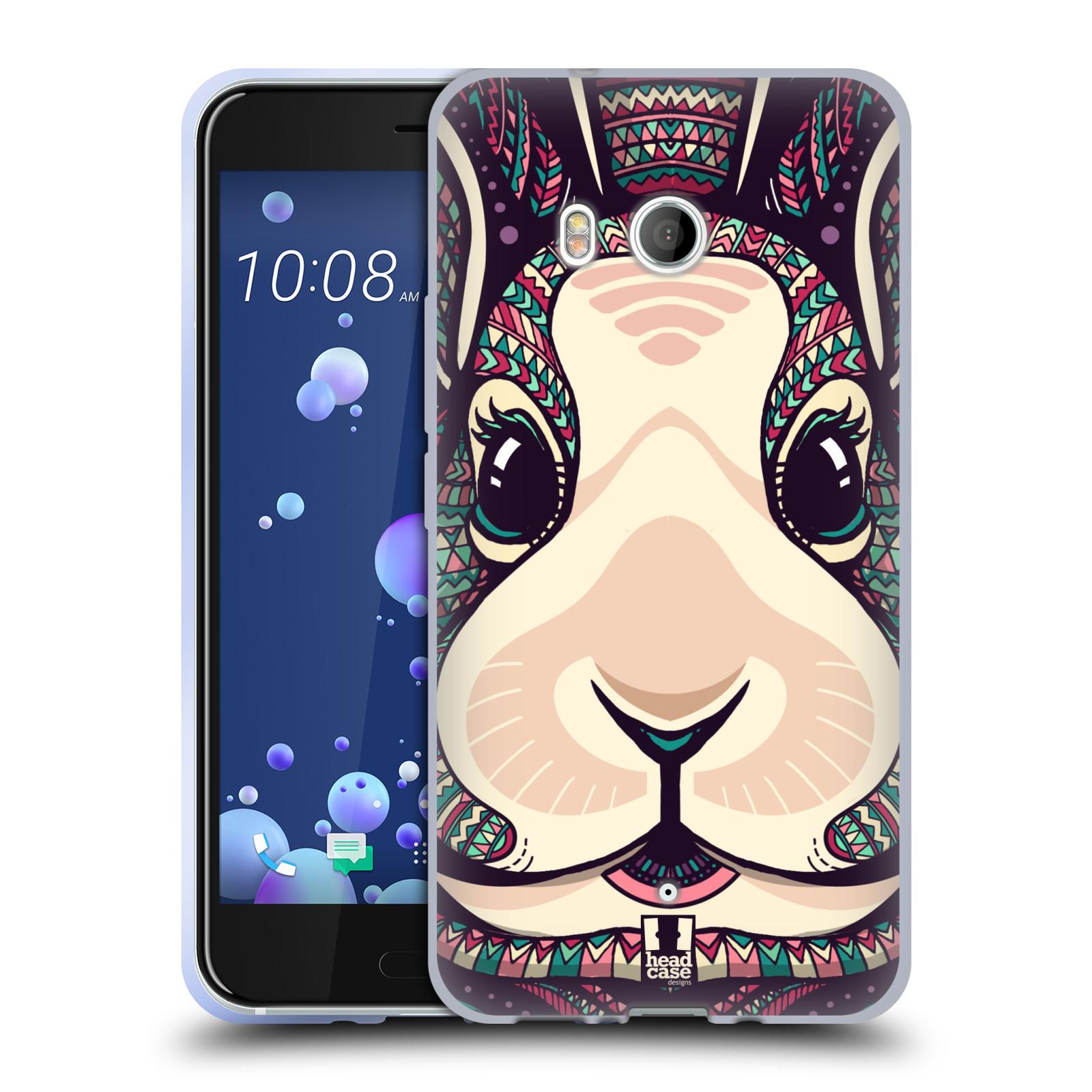 Silikonové pouzdro na mobil HTC U11 - Head Case - AZTEC ZAJÍČEK