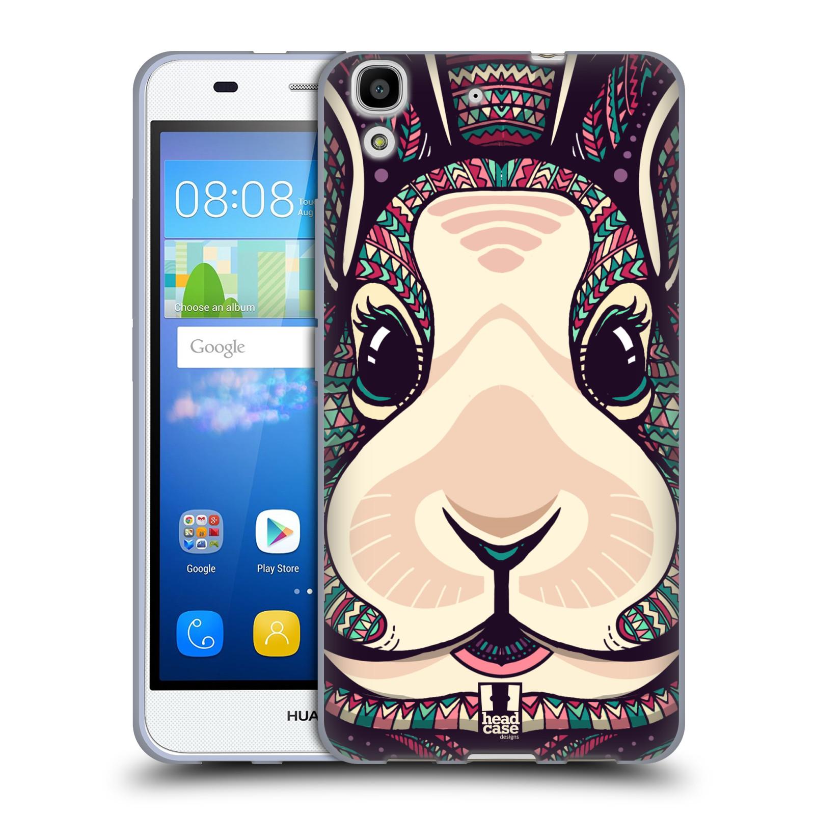 Silikonové pouzdro na mobil Huawei Y6 HEAD CASE AZTEC ZAJÍČEK