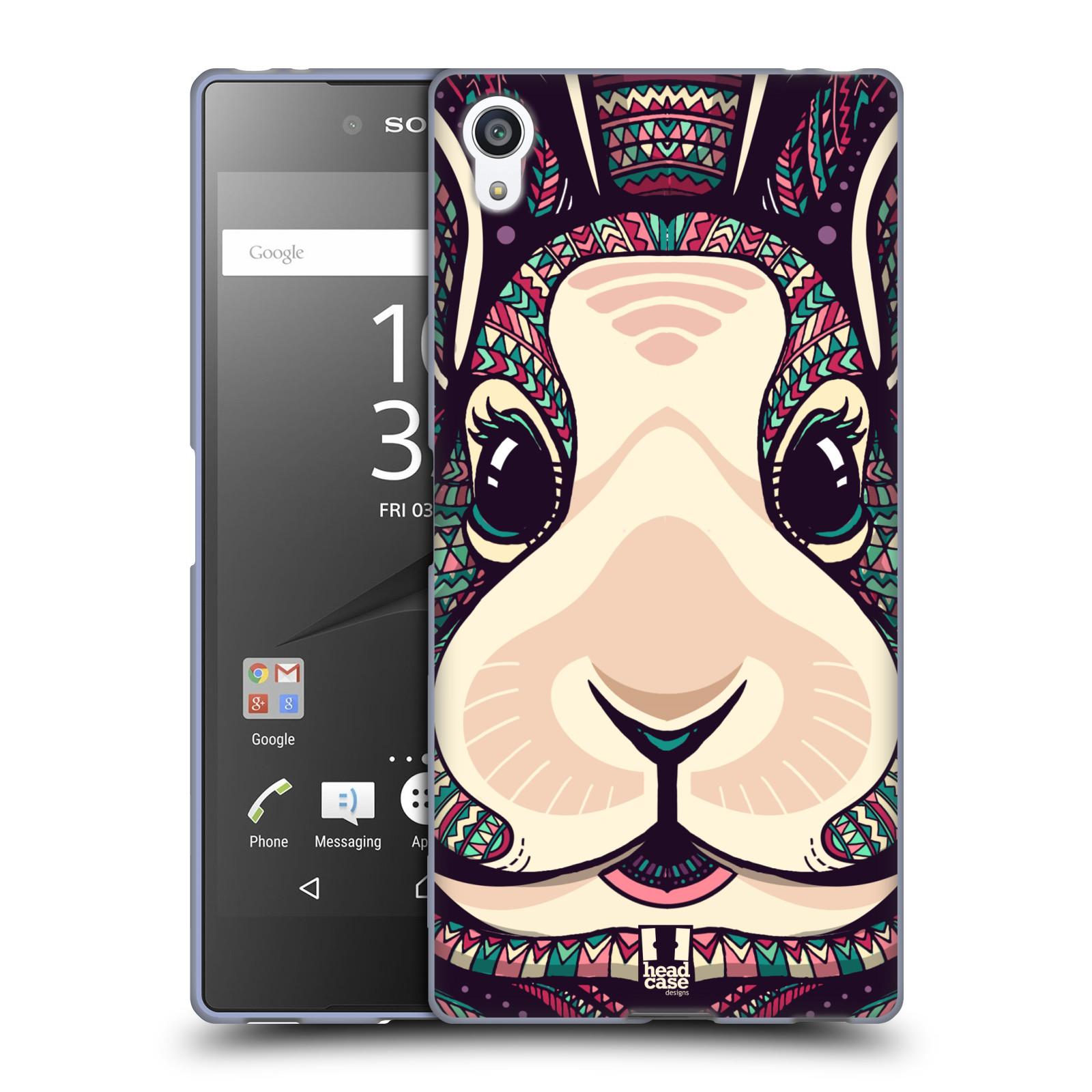 Silikonové pouzdro na mobil Sony Xperia Z5 Premium HEAD CASE AZTEC ZAJÍČEK