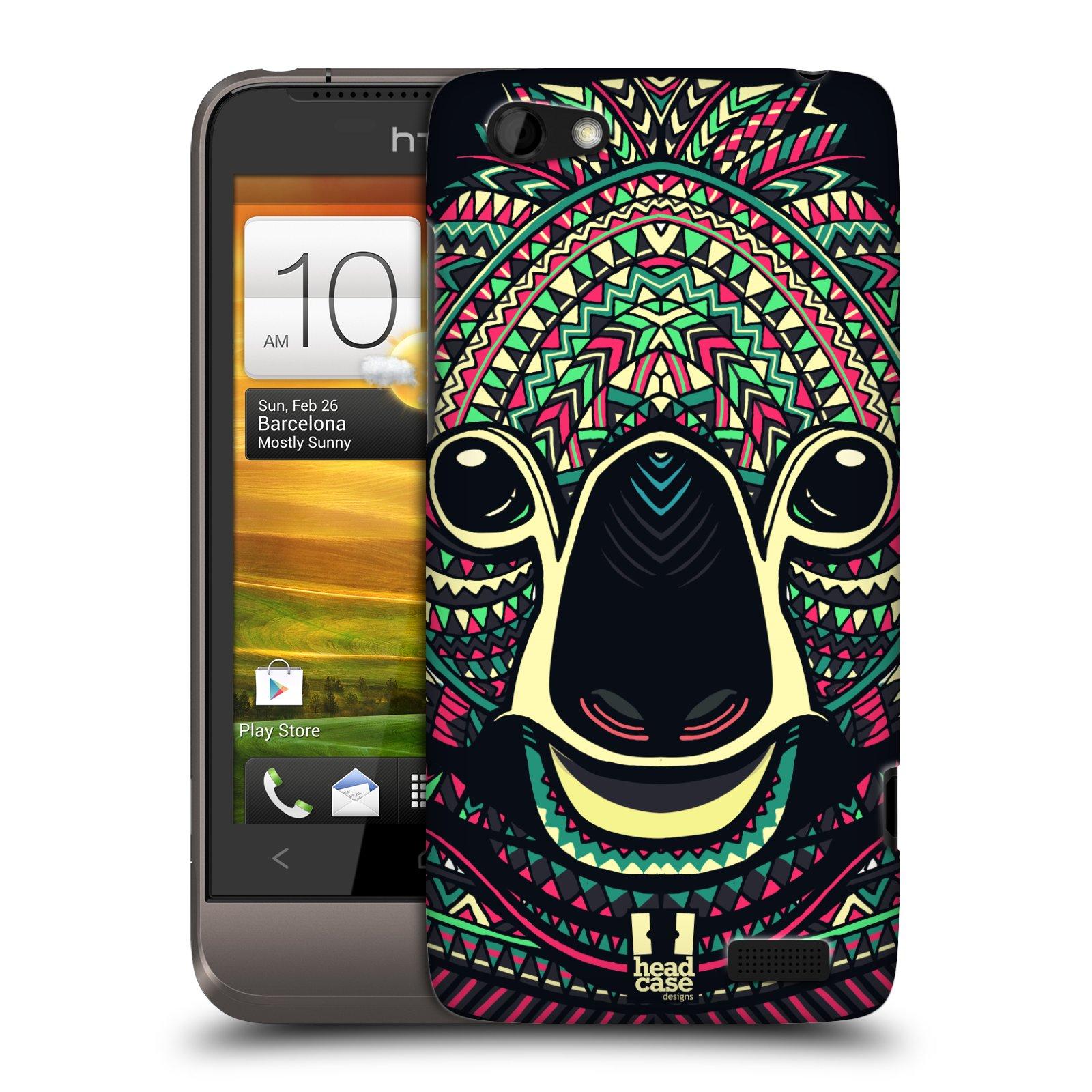 Plastové pouzdro na mobil HTC ONE V HEAD CASE AZTEC KOALA (Kryt či obal na mobilní telefon HTC ONE V)