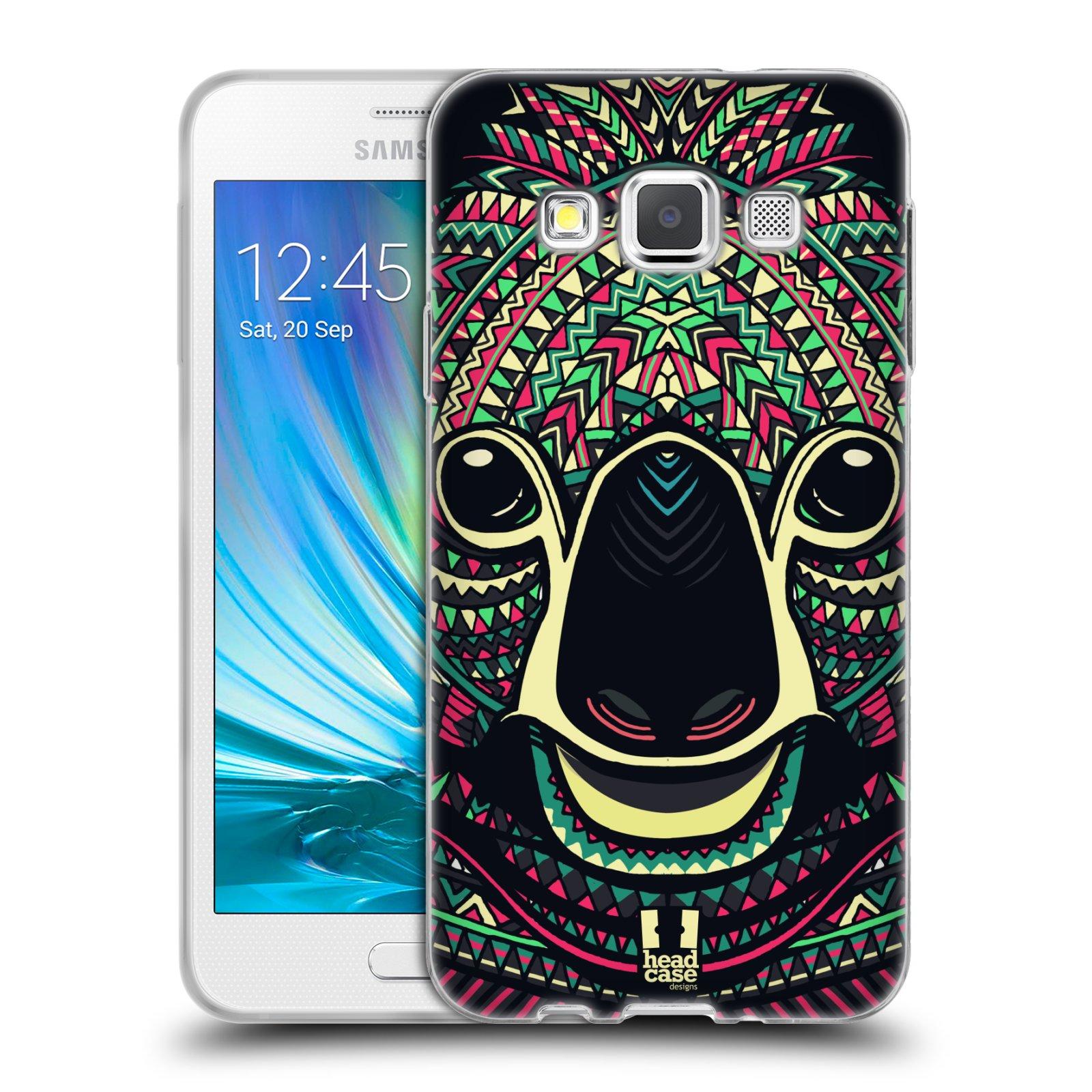 Silikonové pouzdro na mobil Samsung Galaxy A3 HEAD CASE AZTEC KOALA (Silikonový kryt či obal na mobilní telefon Samsung Galaxy A3 SM-A300)