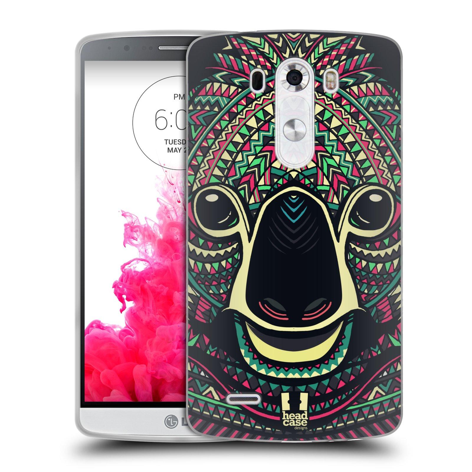 Silikonové pouzdro na mobil LG G3 HEAD CASE AZTEC KOALA (Silikonový kryt či obal na mobilní telefon LG G3 D855)