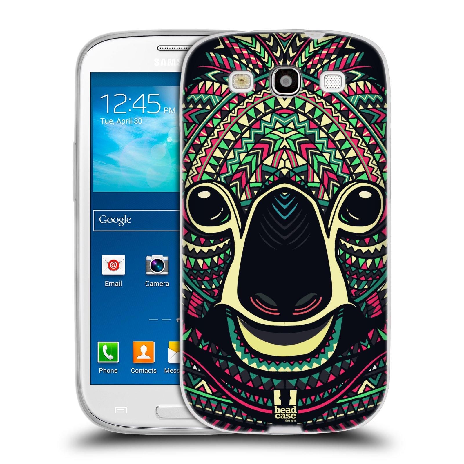 Silikonové pouzdro na mobil Samsung Galaxy S3 Neo HEAD CASE AZTEC KOALA (Silikonový kryt či obal na mobilní telefon Samsung Galaxy S3 Neo GT-i9301i)