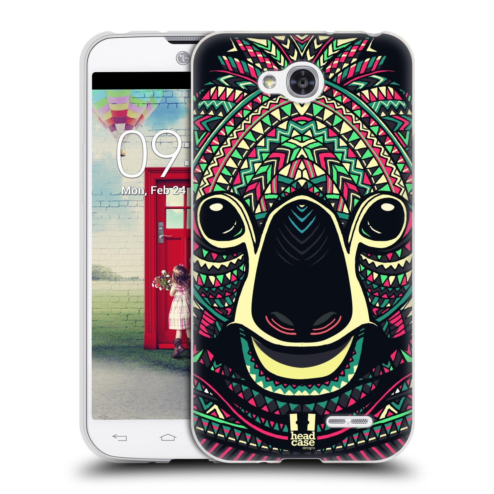 Silikonové pouzdro na mobil LG L90 HEAD CASE AZTEC KOALA (Silikonový kryt či obal na mobilní telefon LG L90 D405n)