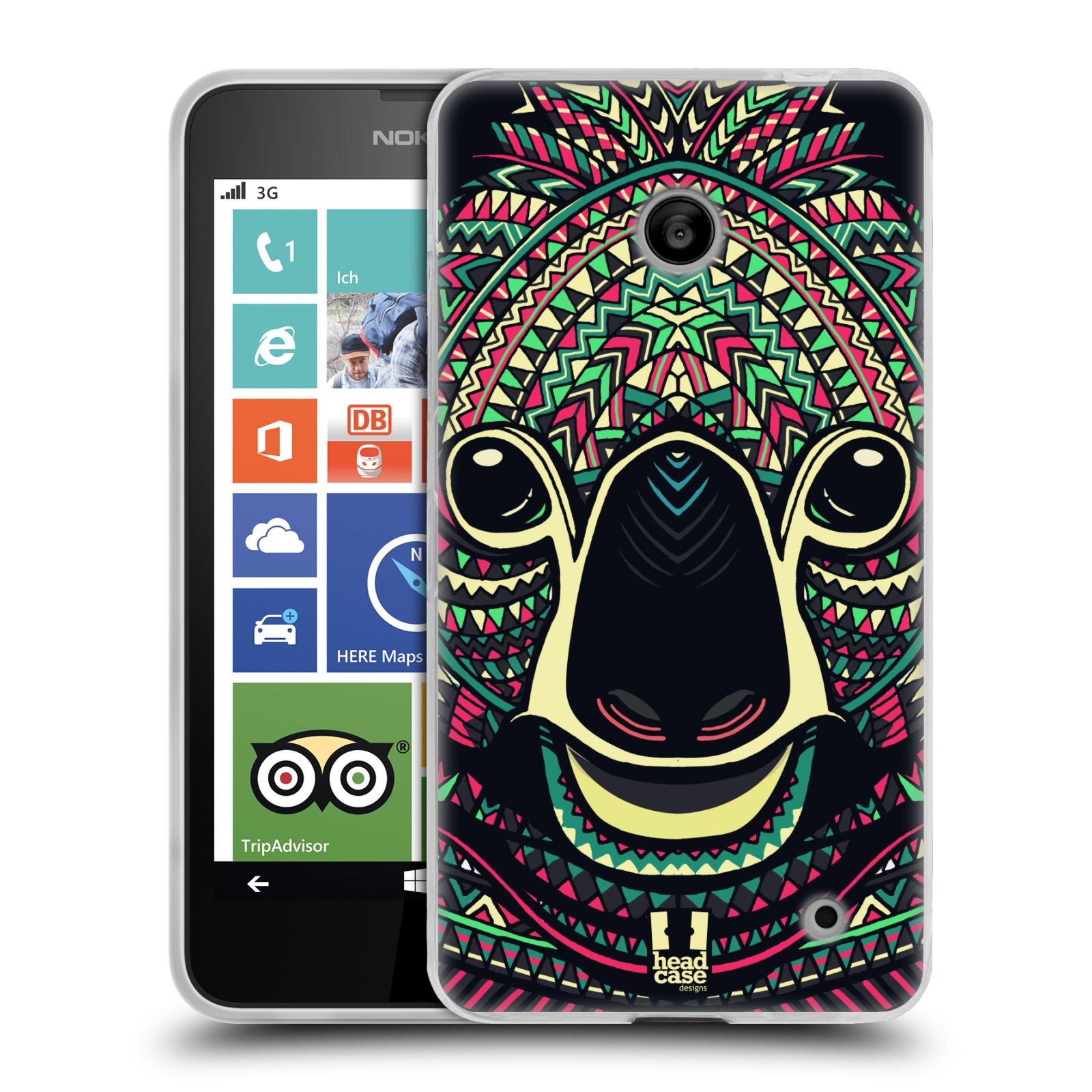 Silikonové pouzdro na mobil Nokia Lumia 630 HEAD CASE AZTEC KOALA (Silikonový kryt či obal na mobilní telefon Nokia Lumia 630 a Nokia Lumia 630 Dual SIM)