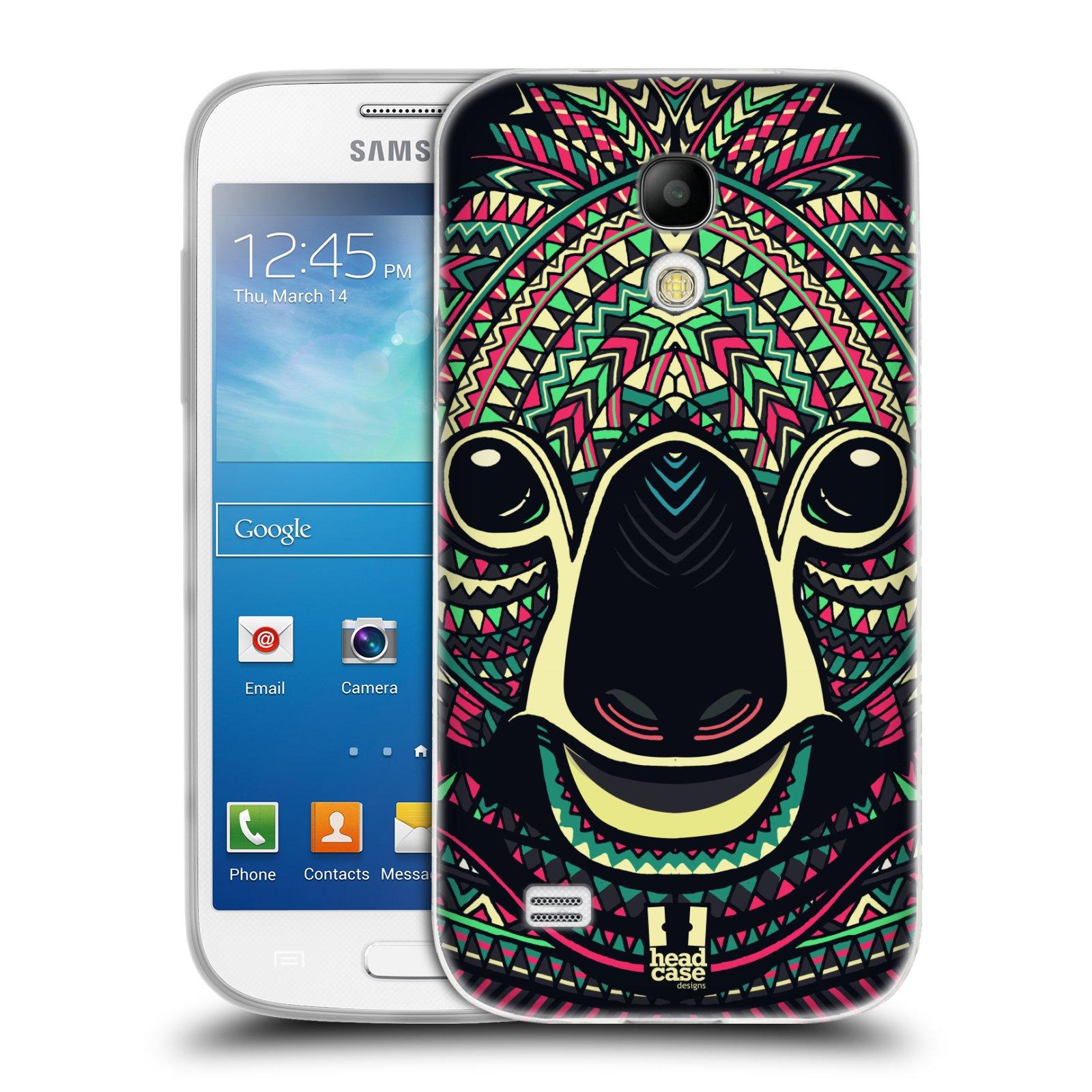 Silikonové pouzdro na mobil Samsung Galaxy S4 Mini HEAD CASE AZTEC KOALA (Silikonový kryt či obal na mobilní telefon Samsung Galaxy S4 Mini GT-i9195 / i9190 (nepasuje na verzi Black Edition))