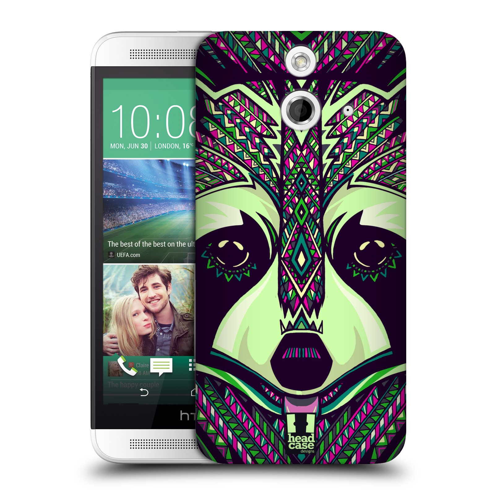 Plastové pouzdro na mobil HTC ONE E8 HEAD CASE AZTEC MÝVAL (Kryt či obal na mobilní telefon HTC ONE E8)